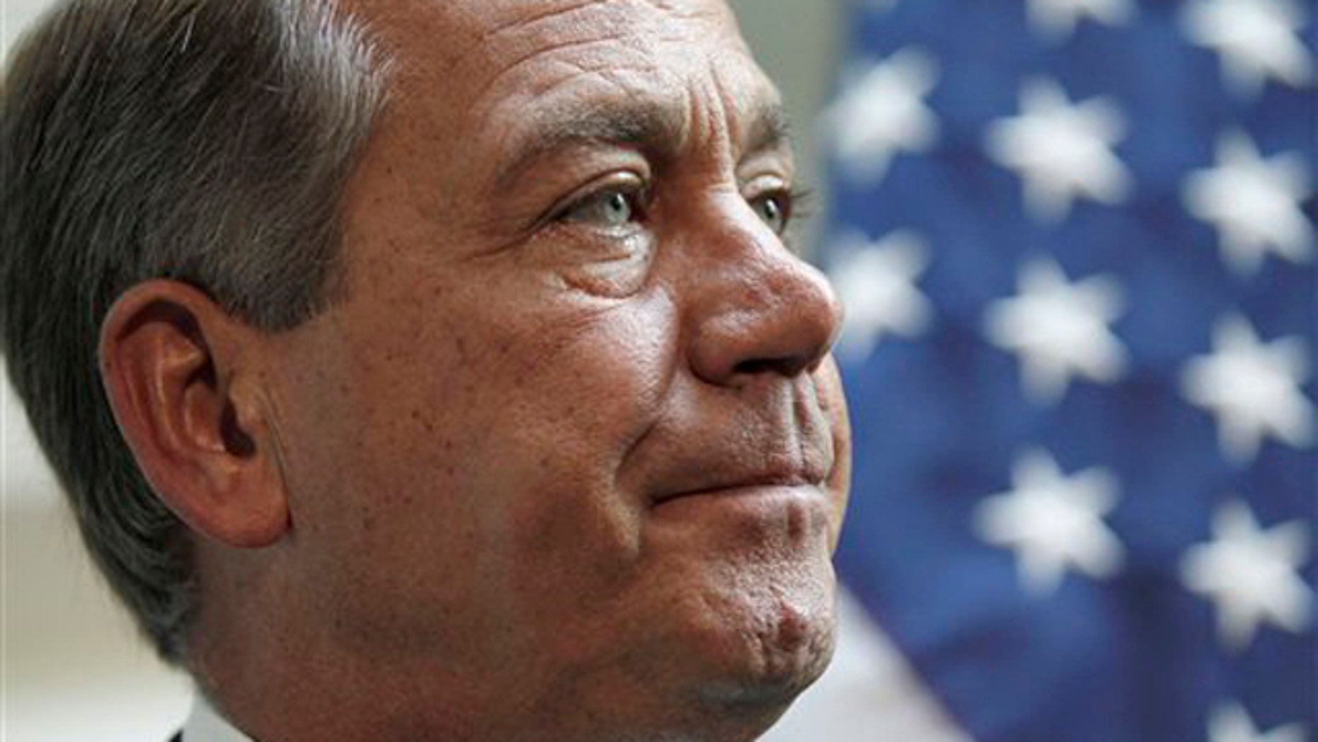 House Speaker John Boehner takes part in a news conference on Capitol Hill Oct. 4.