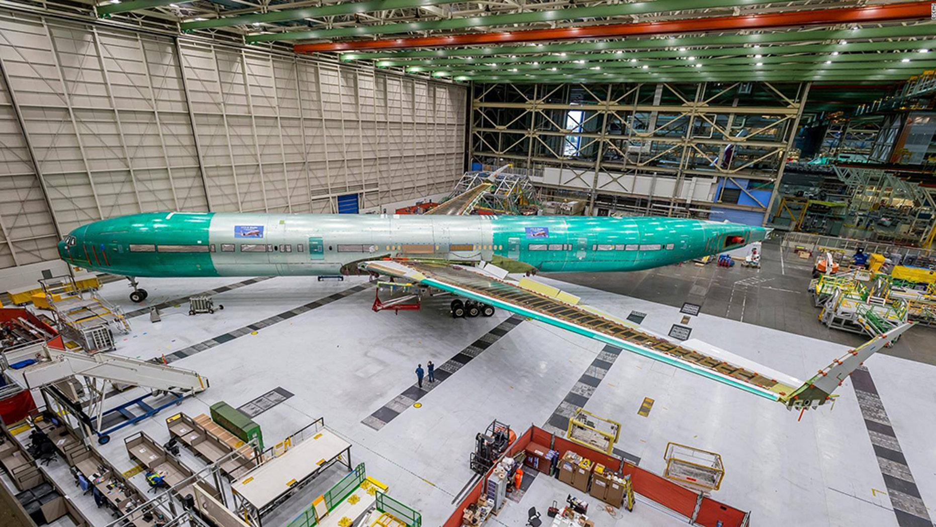 A test model of Boeing's new 777X Jetliner will undergo testing before models become available to carriers.