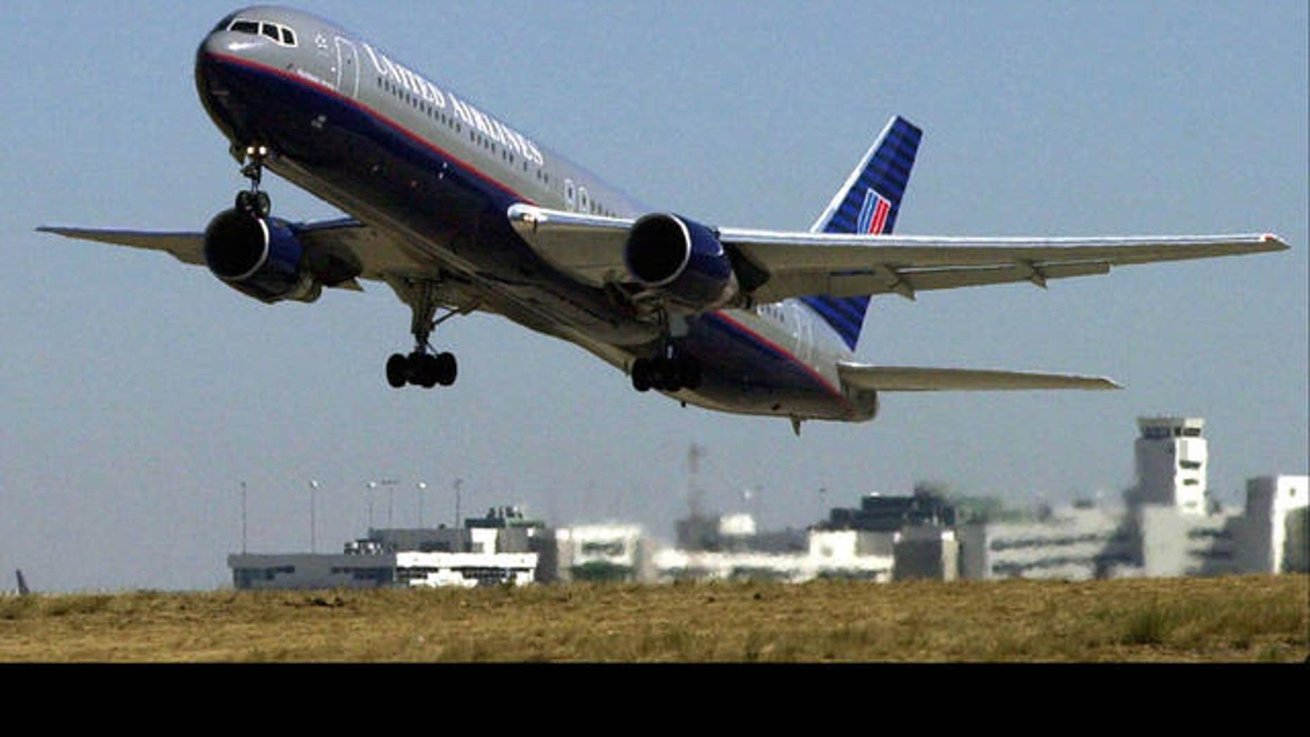 In this file photo, a United Airlines Boeing 757 jet takes off in flight. The airliner grounded 96 of its Boeing aircraft on Tuesday to perform maintenance checks that were incomplete.
