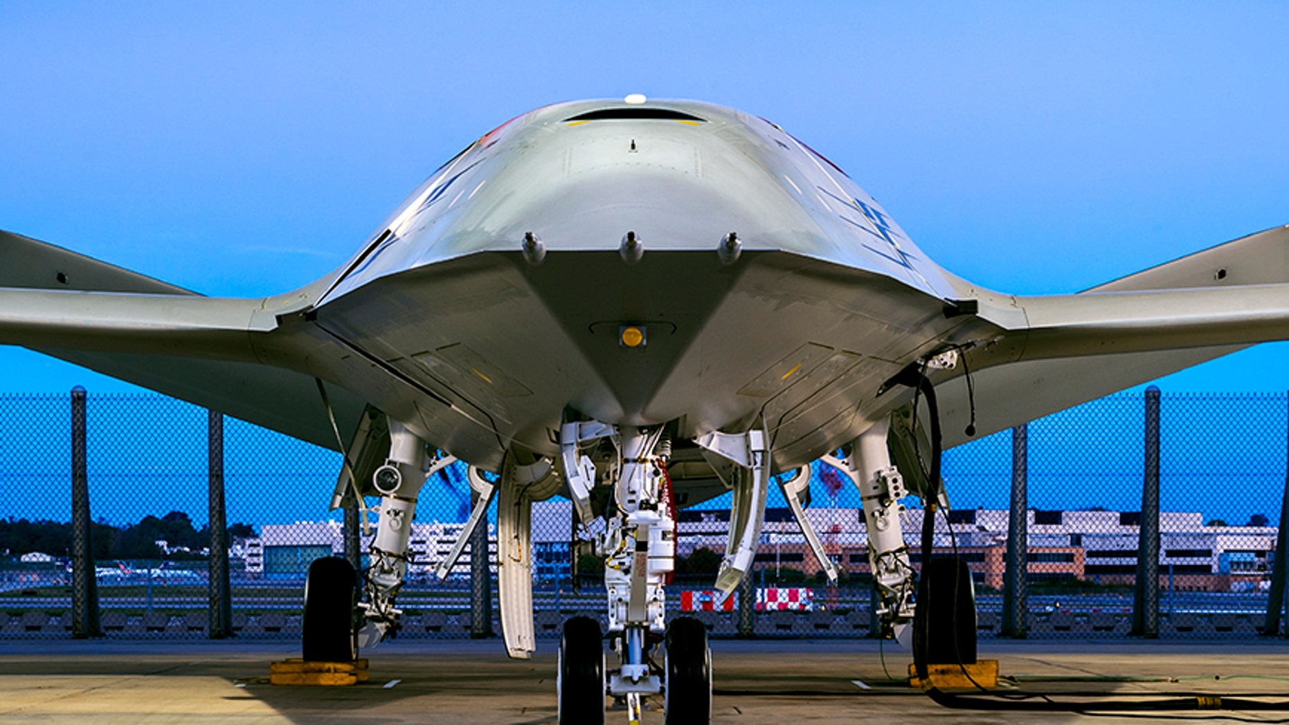 File photo - Boeing's MQ-25 unmanned aircraft system (Boeing photo by Eric Shindelbower)