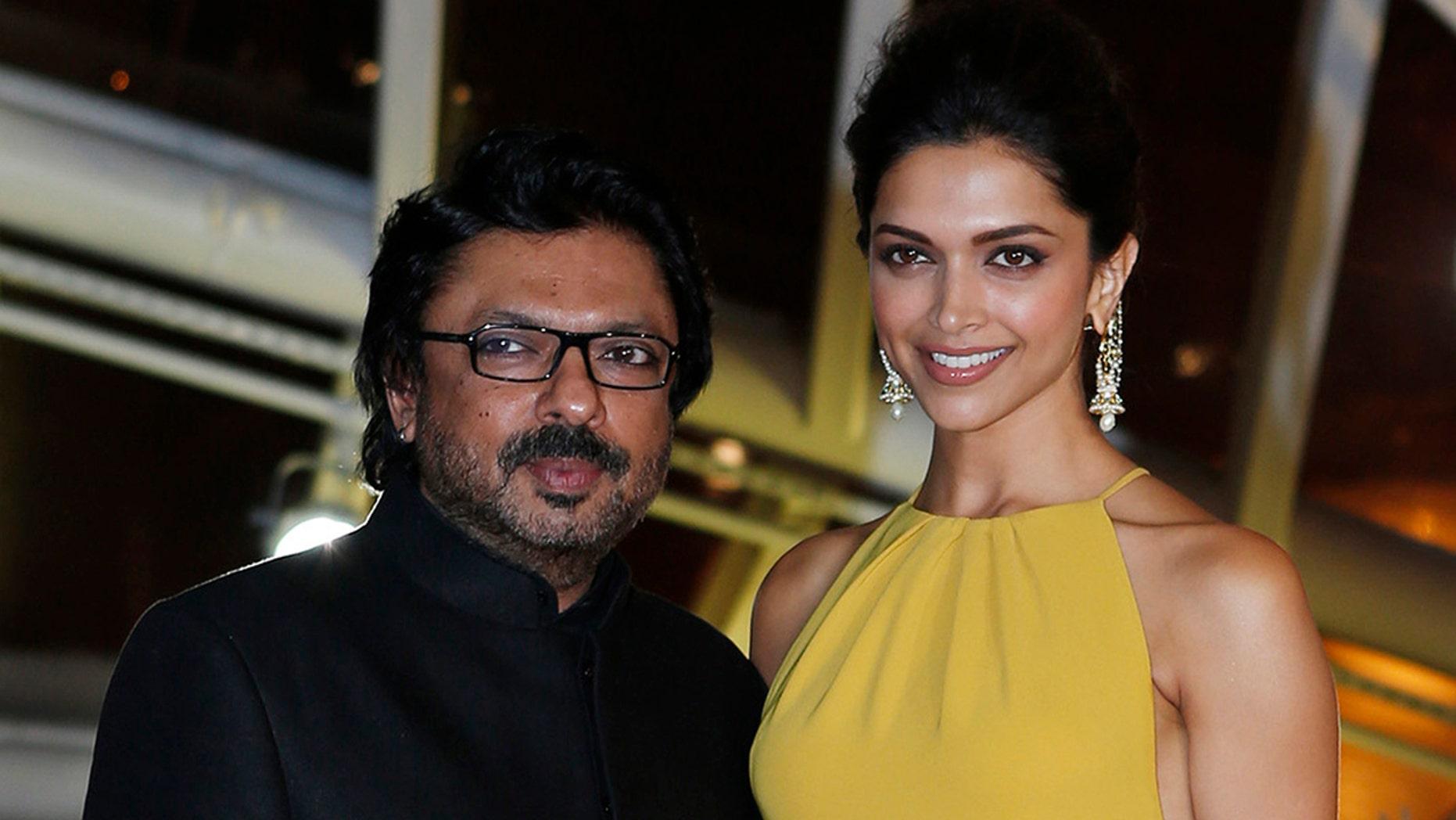 Deepika Padukone, right, and director Sanjay Leela Bhansali attend the opening of the 13th annual Marrakech International Film Festival.
