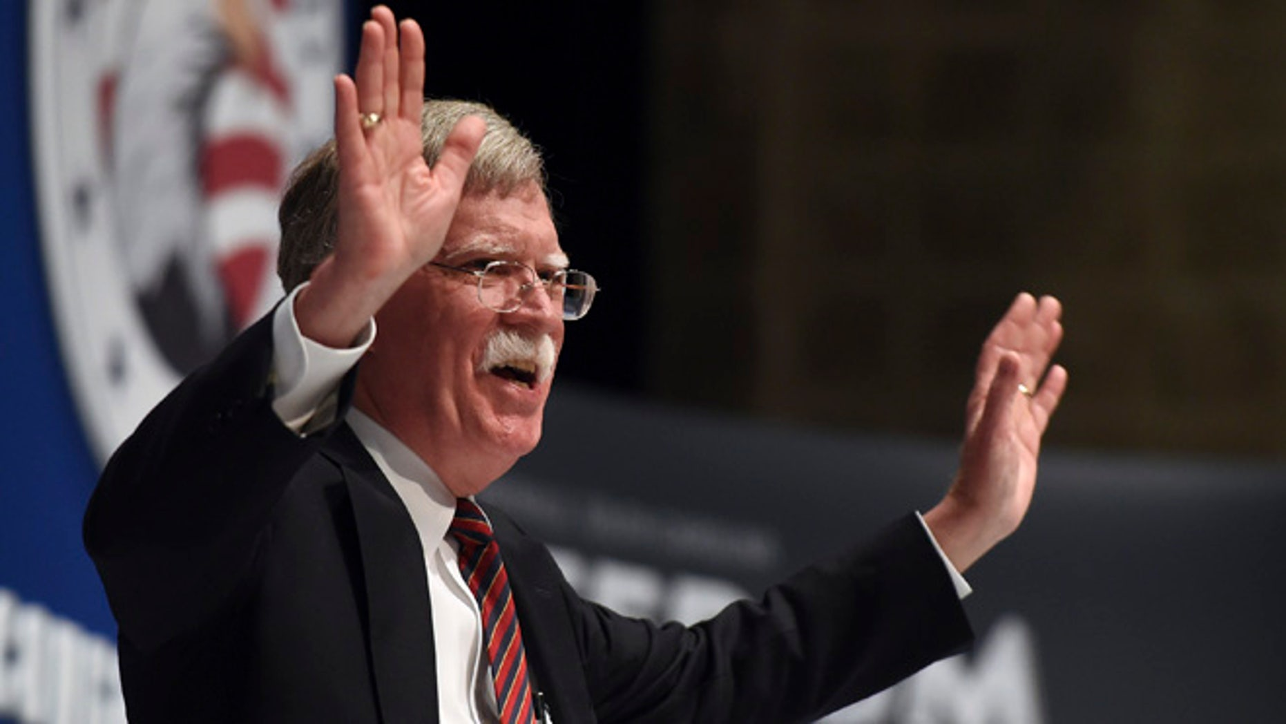 May 9, 2015: Former United Nations Ambassador John Bolton speaks during tthe Freedom Summit in Greenville. (AP)
