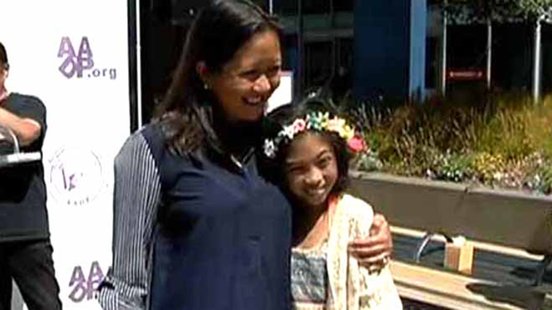 Kristine Sydney, left, was found to be a bone marrow match for Mailyna Mayate, right.