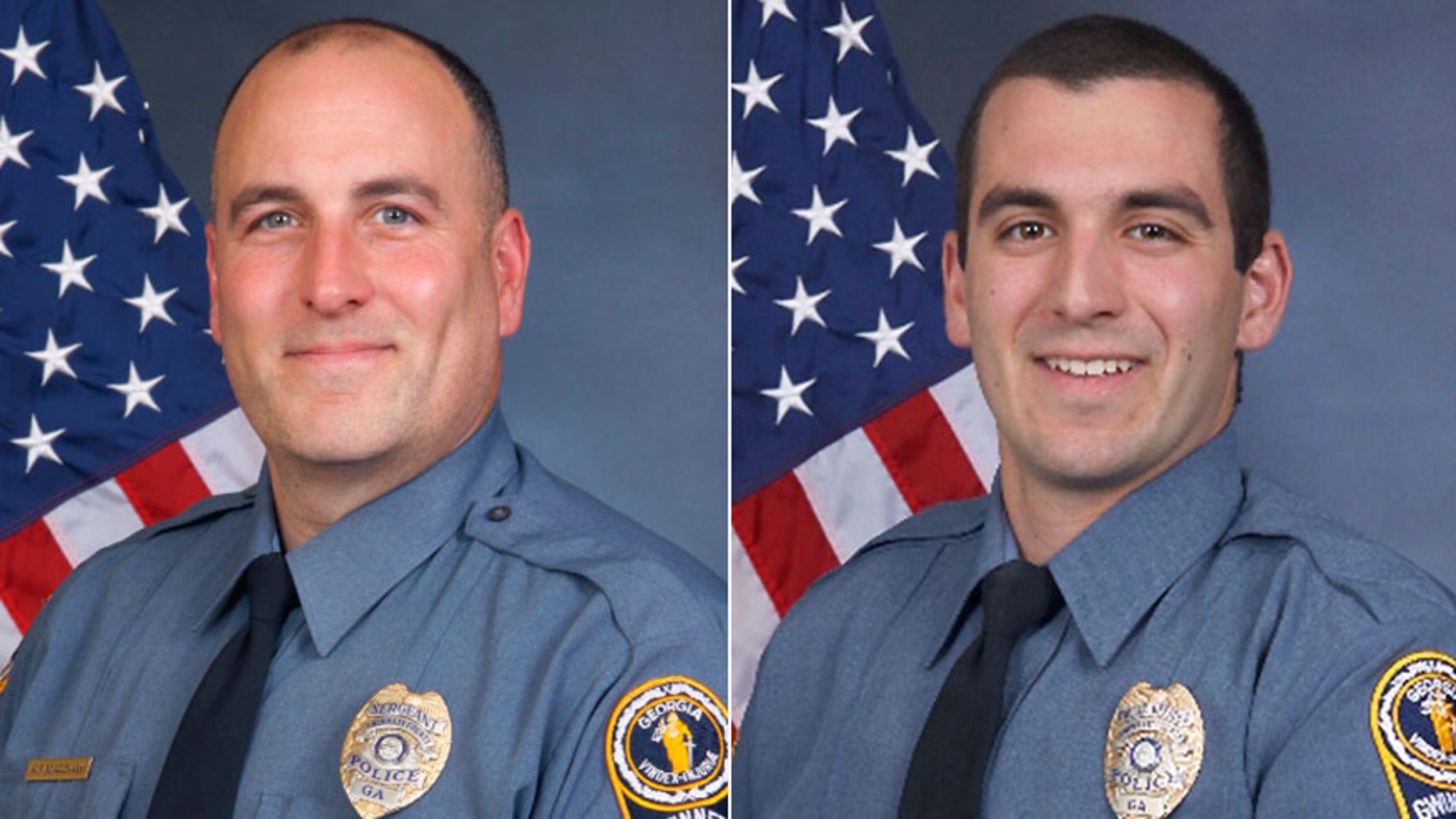 Gwinnett County Sgt. Michael Bongiovanni and Master Police Officer Robert McDonald