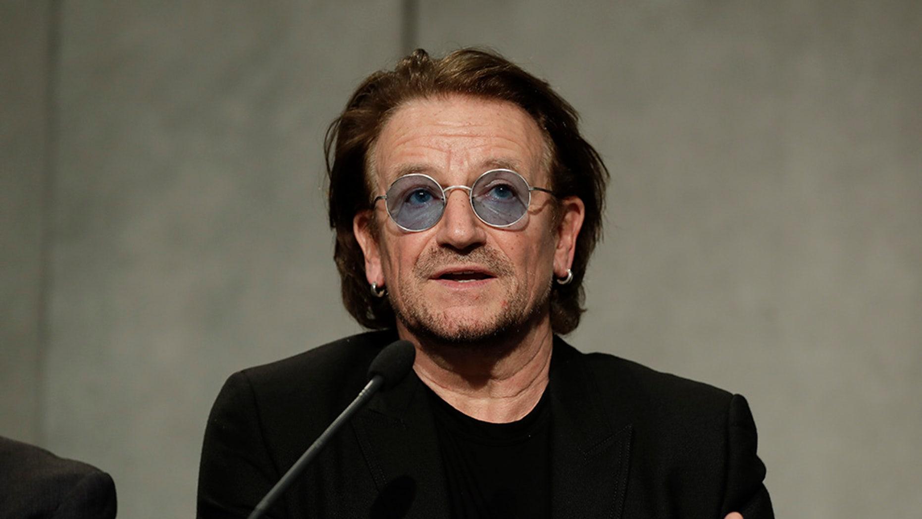 U2 rocker Bono called capitalism 'amoral' at a recent speaking panel.