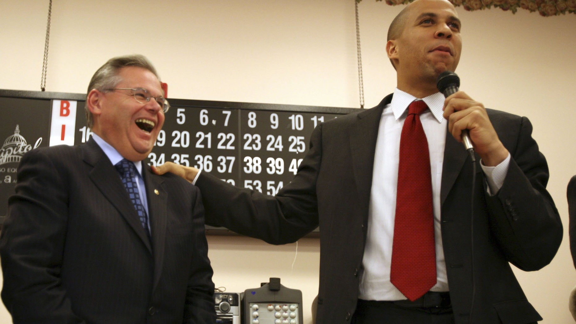 Democrats U.S. Sen. Robert Menendez and Sen.-elect Cory Booker are a rarity in U.S. history -- two minorities representing the same state at the same time in the Senate. Only Hawaii has done the same.