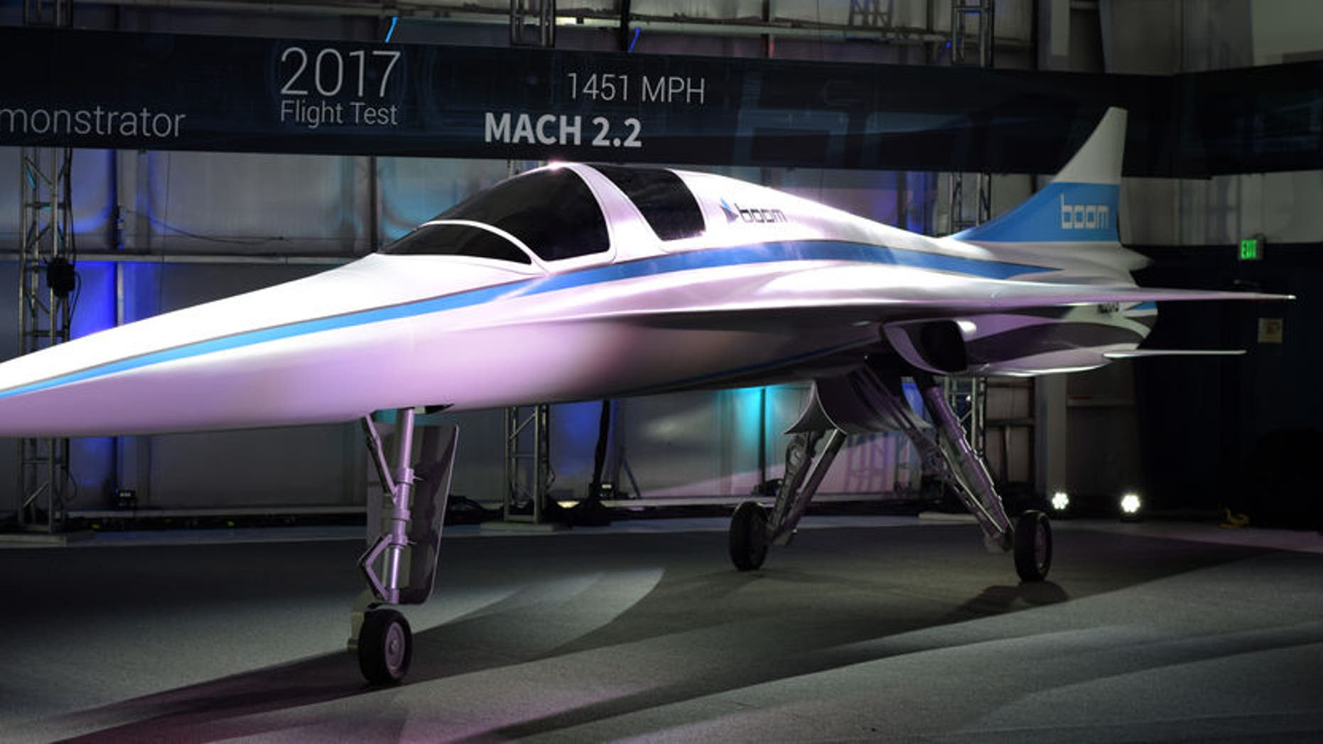 """Boom Technology says its XB-1, nicknamed the """"Baby Boom"""" will be the world's fastest civil aircraft."""