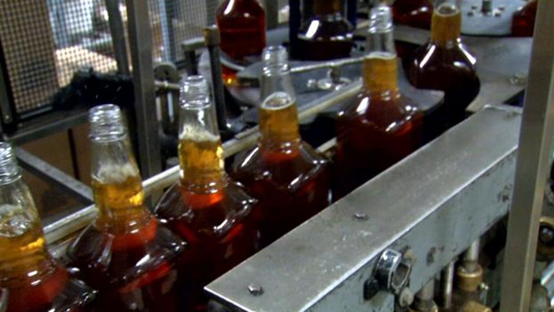 FILE: More than $25,000 worth of Pappy Van Winkle bourbon was swiped from a secure area at Buffalo Trace Distillery in Frankfort, Ky.