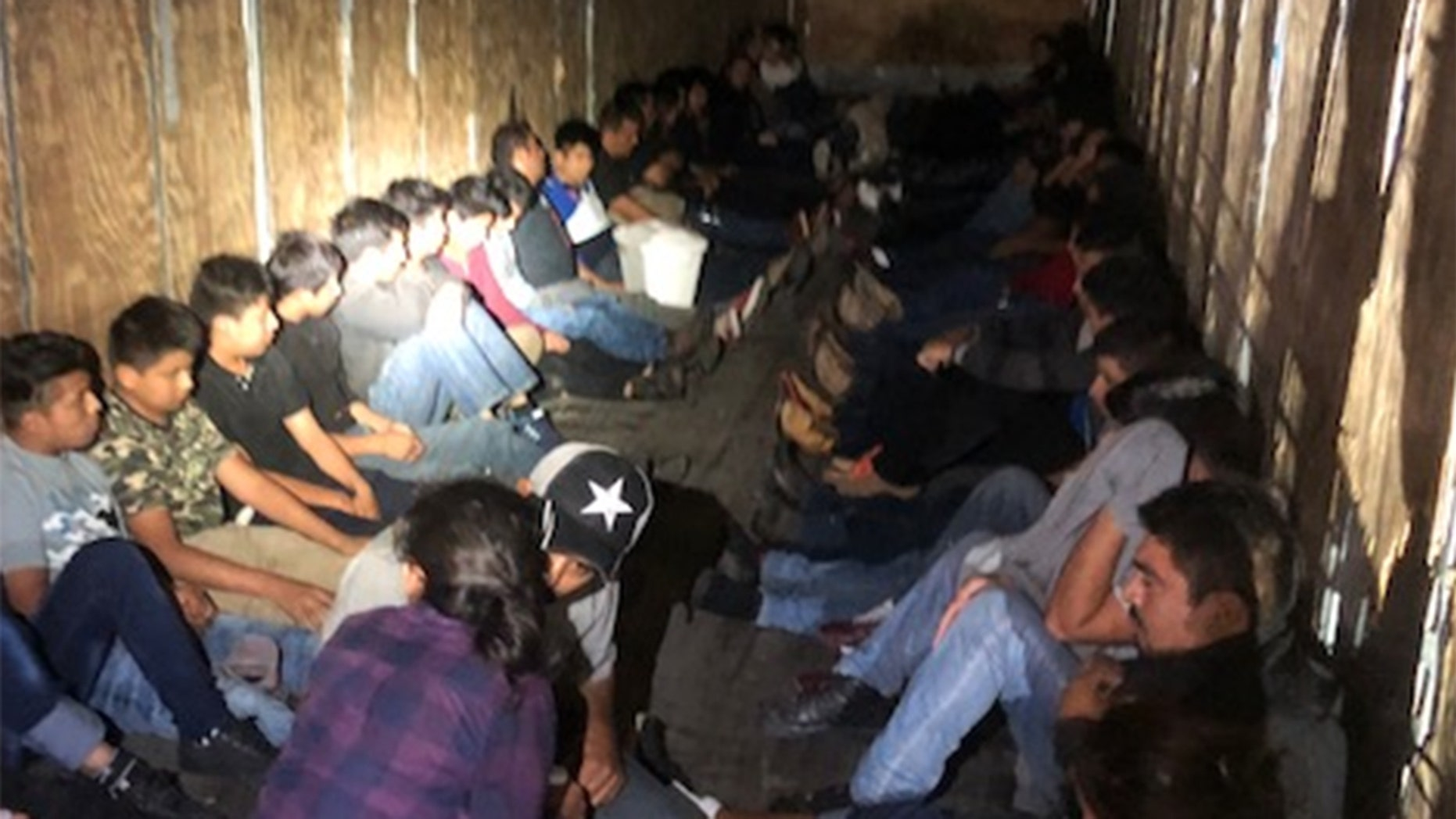 Fifty-nine illegal immigrants were found trying to enter the U.S. inside of a tractor-trailer.