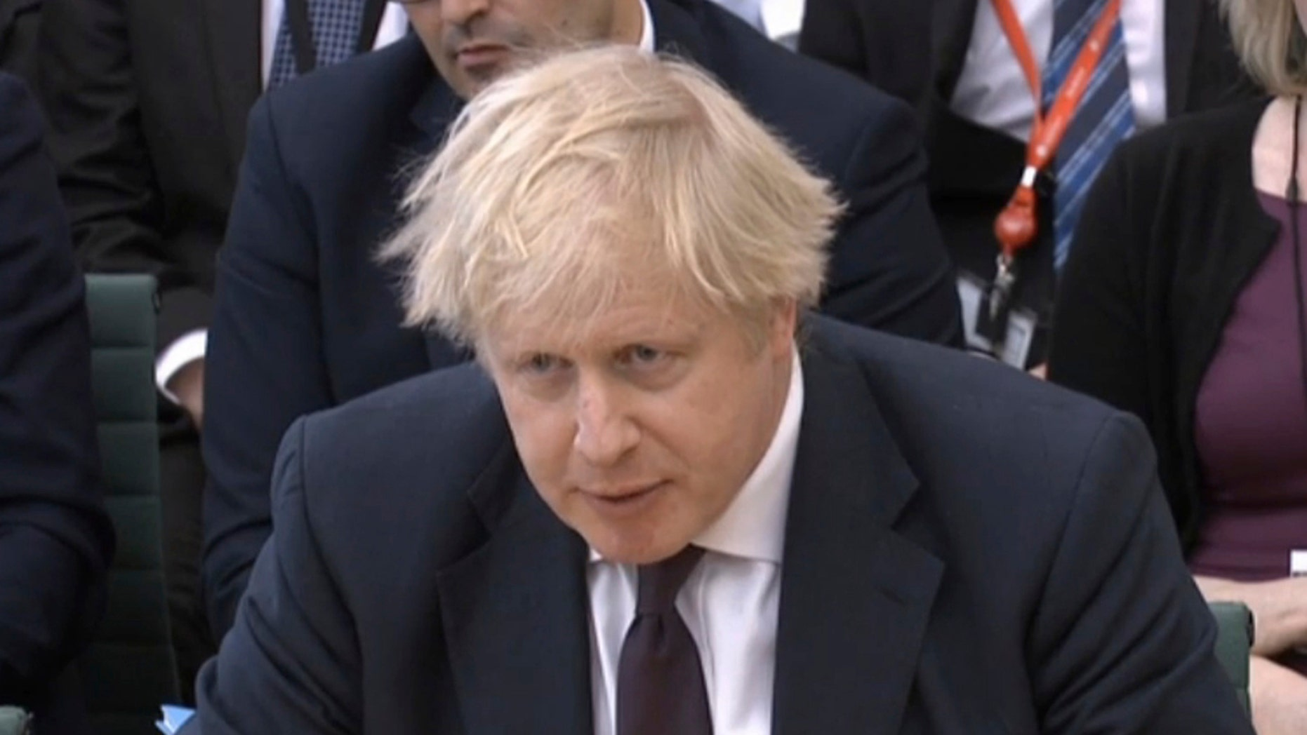 Britain's Foreign Secretary Boris Johnson is seen in Portcullis House, London, March 21, 2018.