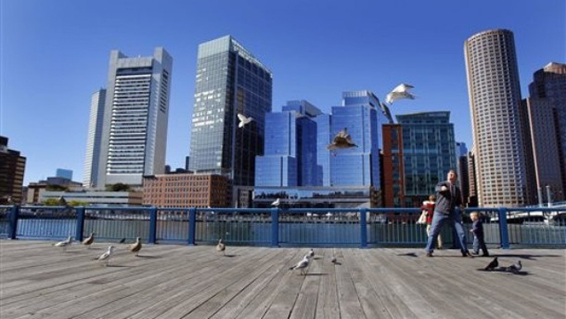 Shown in this Oct. 9, 2010, photo is the Fort Point Channel harborwalk by the Boston Harbor.