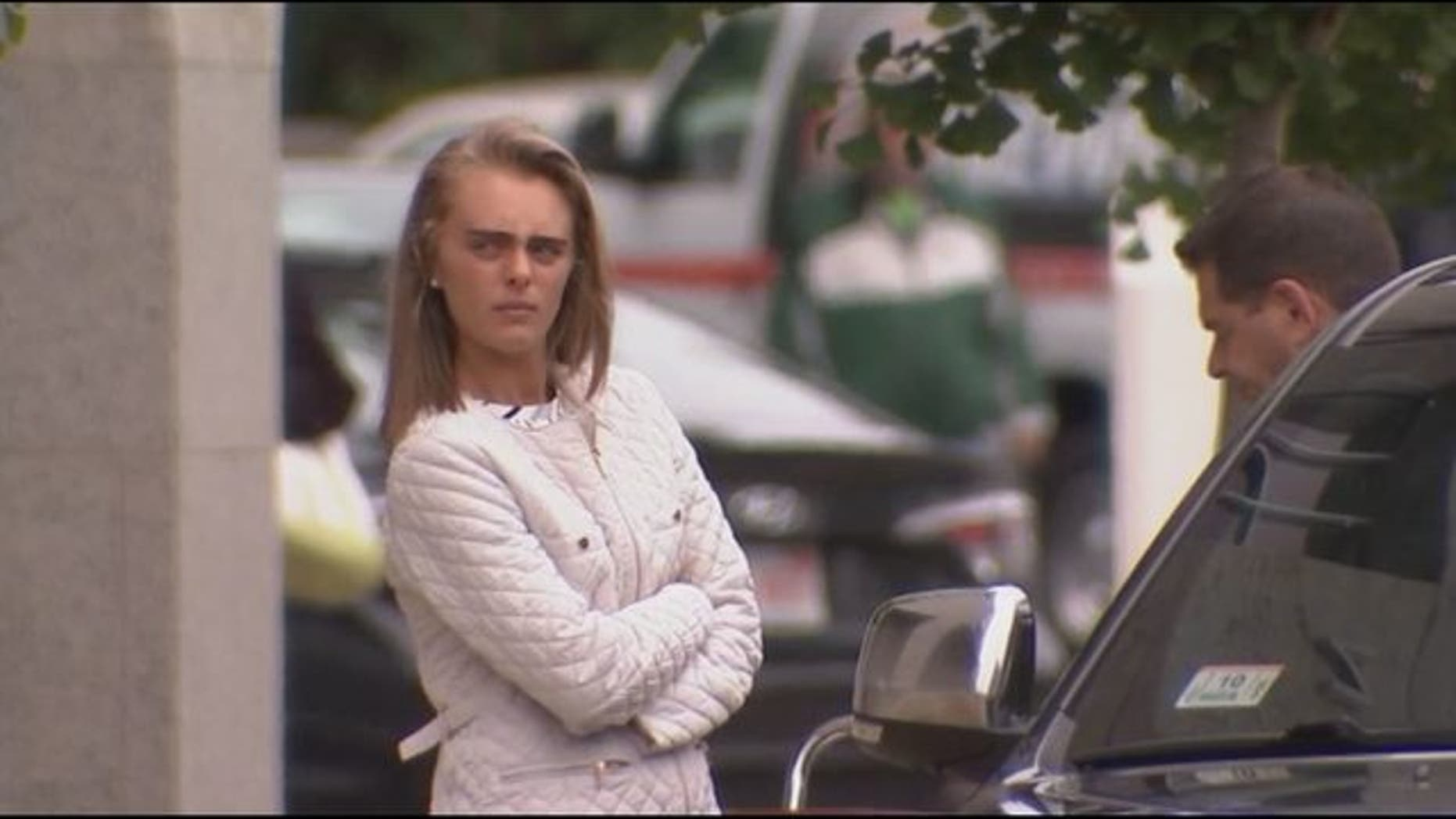 Michelle Carter is seen outside court on June 5, 2017.