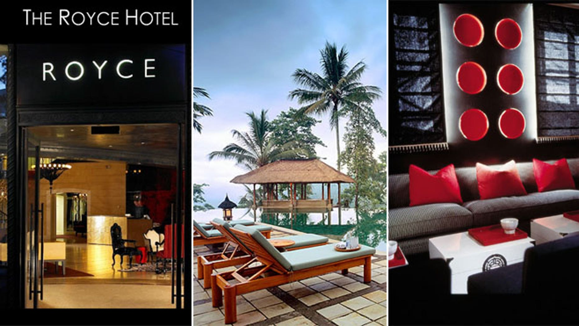 Maison 140 in Beverly Hills, Calif., Amandari in Bali and the Royce Hotel in Melbourne.