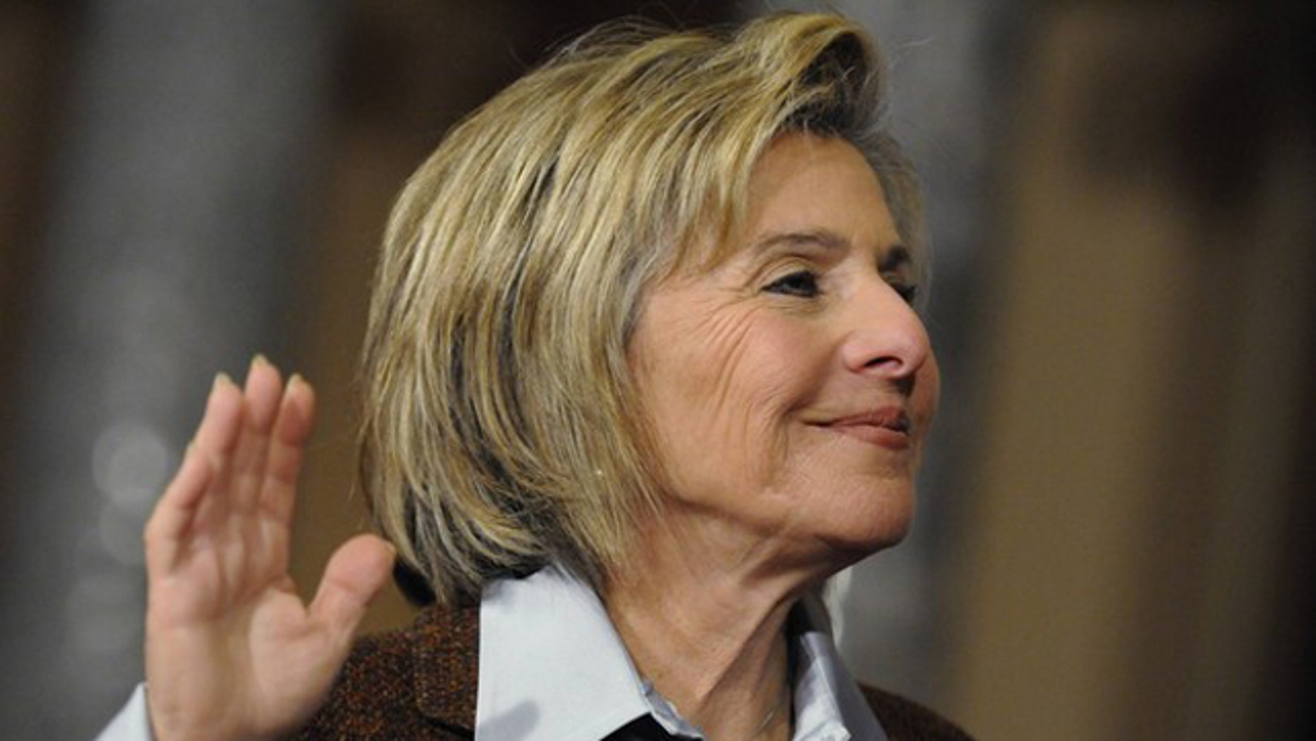 Sen. Barbara Boxer is ceremonially sworn in at the U.S. Capitol in Washington Jan. 5.