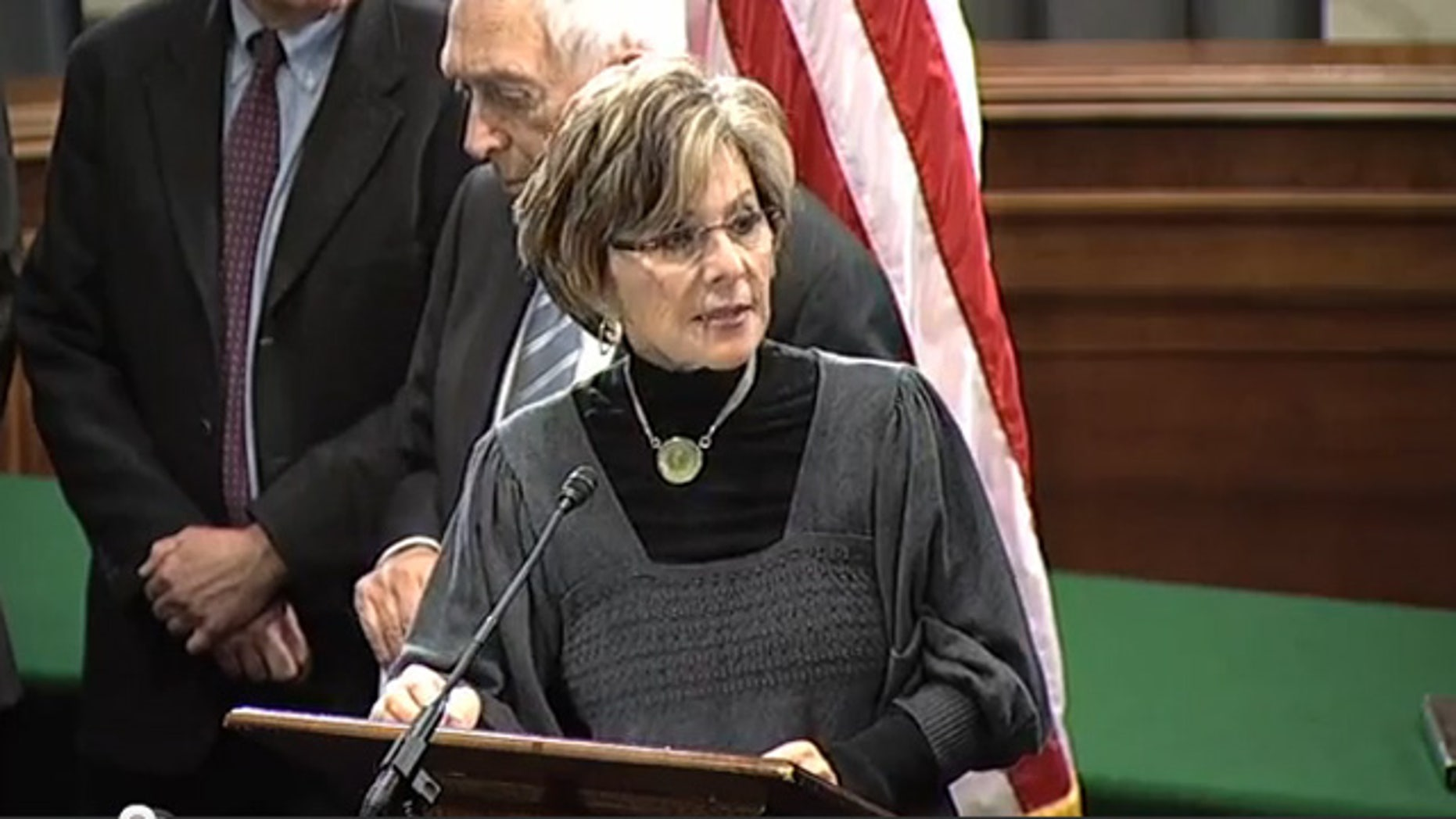 Dec. 13, 2011: Sen. Barbara Boxer speaks at a press conference on Capitol Hill.