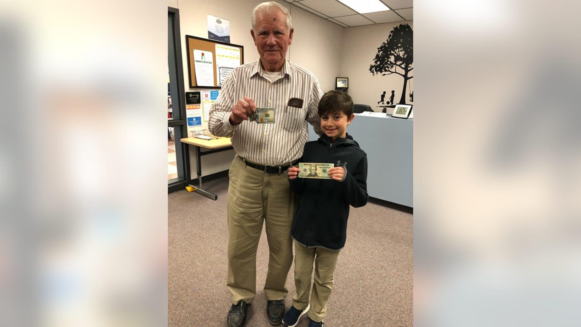 Jaron returned the man's $100 bill on Monday.