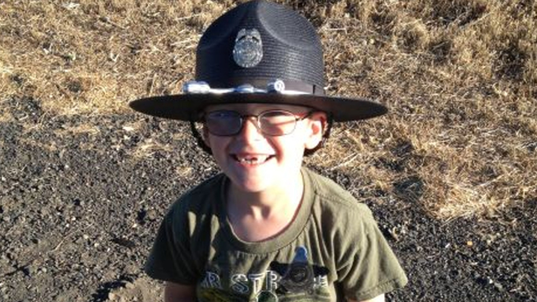 UNDATED: Oregon State Police say Dax, a 5-year old boy from Spokane, Washington, may have saved the life of his father Robert Paget, after his dad suffered a stroke while driving.