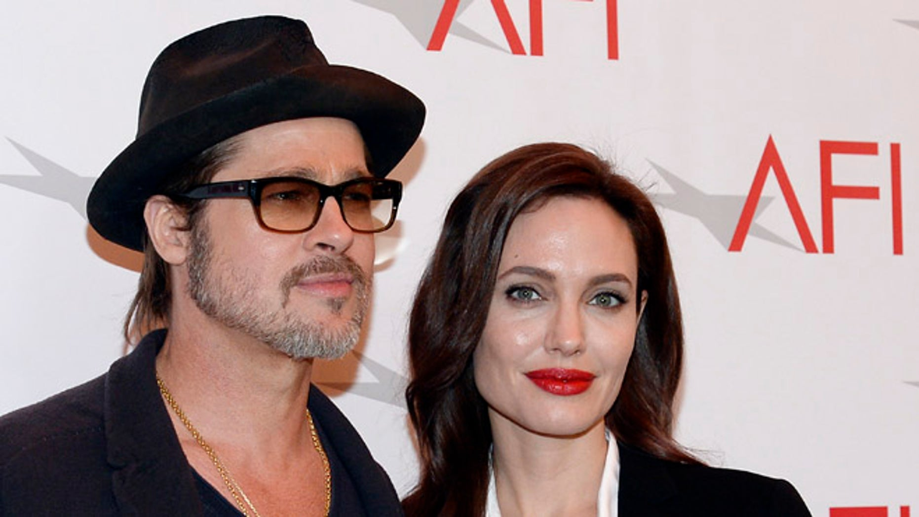 Brad Pitt and Angelina Jolie at the AFI Awards in 2015.