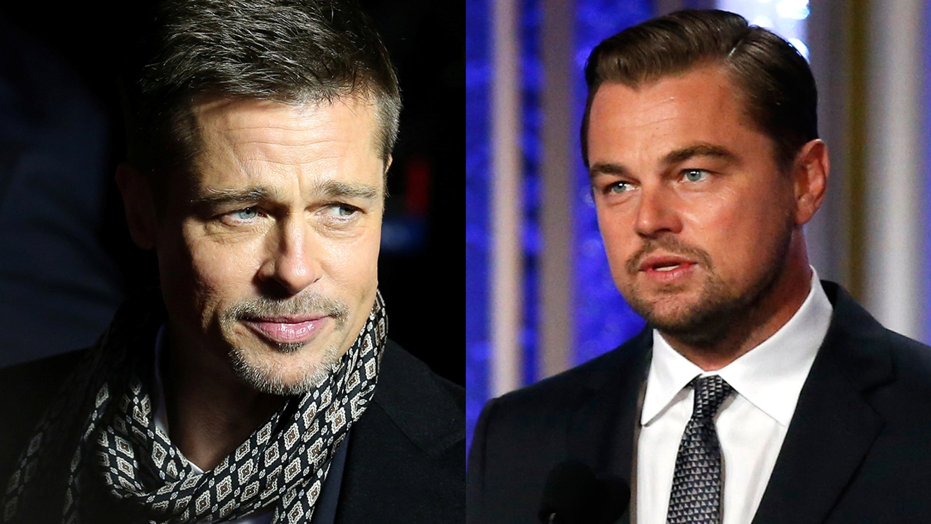 Brad Pitt left and Leonardo Di Caprio will star in Quentin Tarantino's upcoming Manson movie