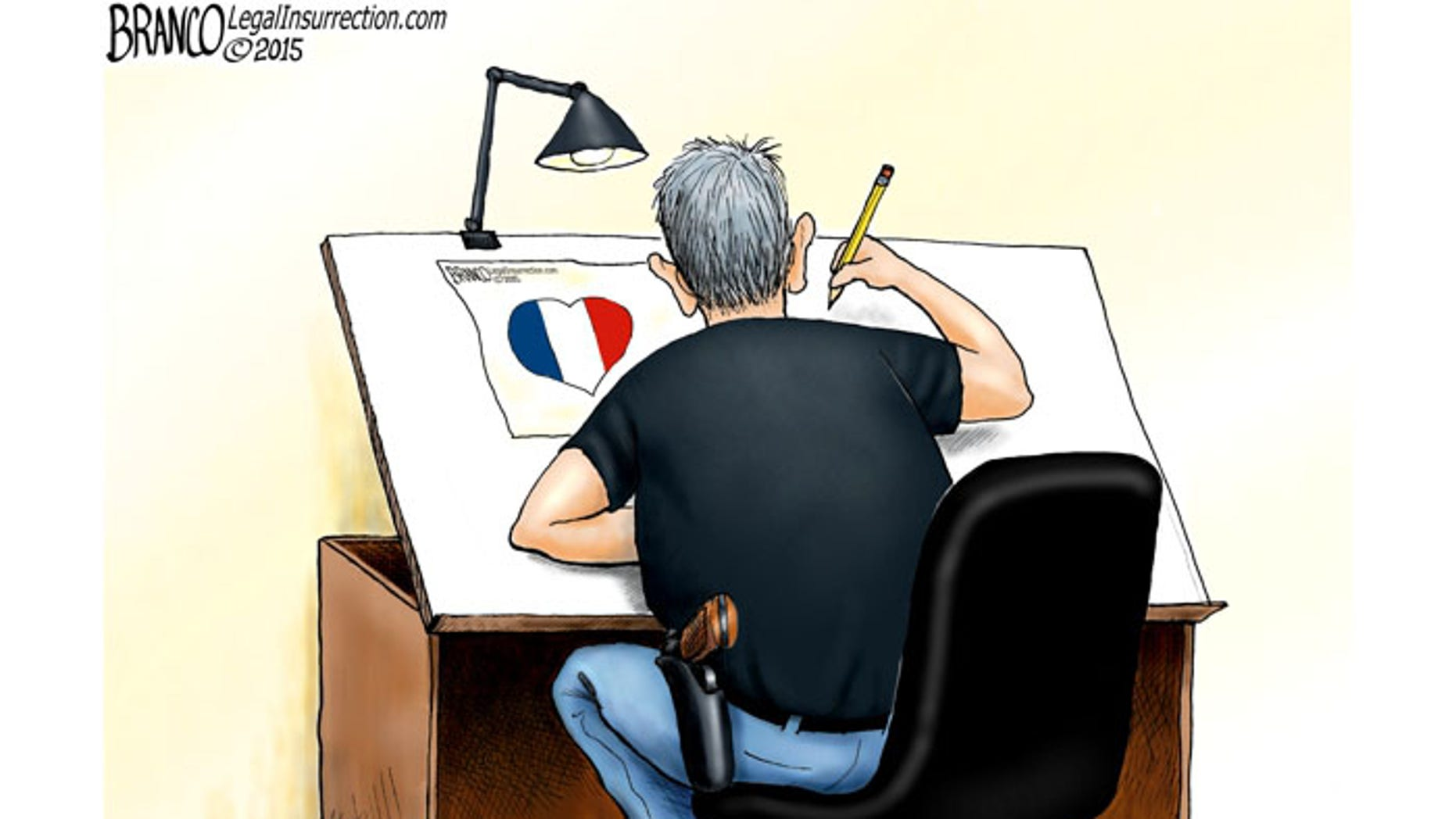 """Antonio Branco's tribute is entitled """"We are all cartoonists now."""""""