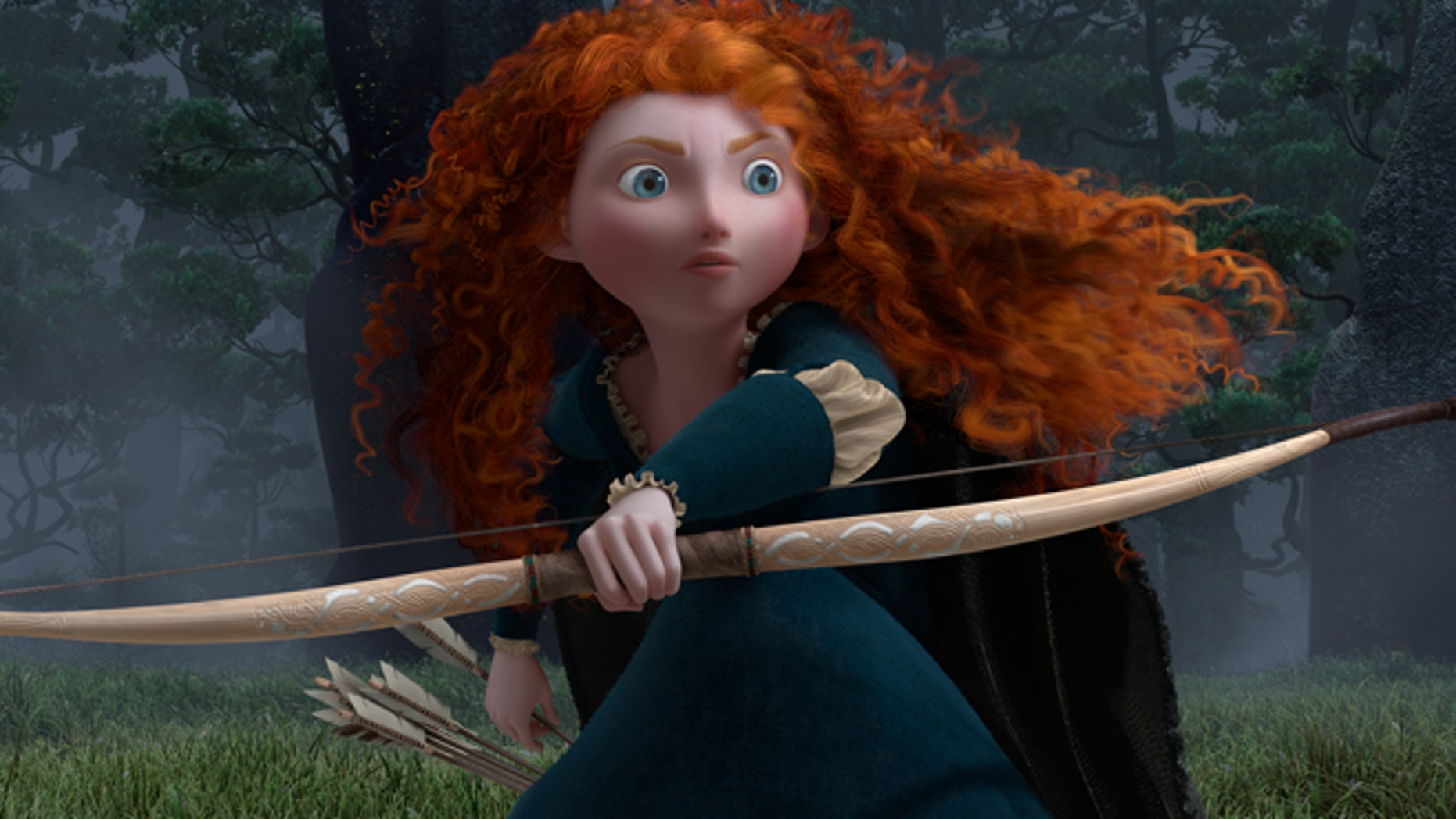 """""""BRAVE""""Merida (voice by Kelly Macdonald)©Disney/Pixar.  All Rights Reserved."""