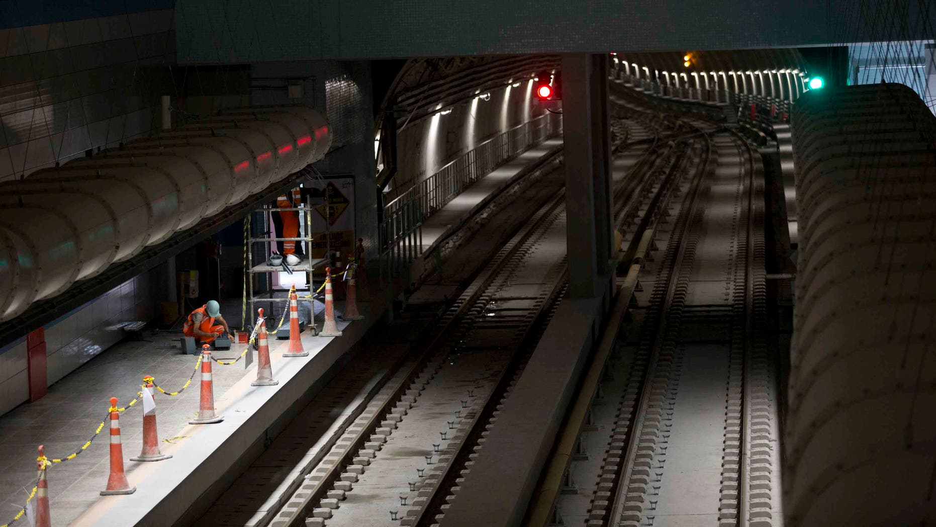 Odebrecht personnel work on the Line 4 of the subway that is under construction in Rio de Janeiro, Brazil.