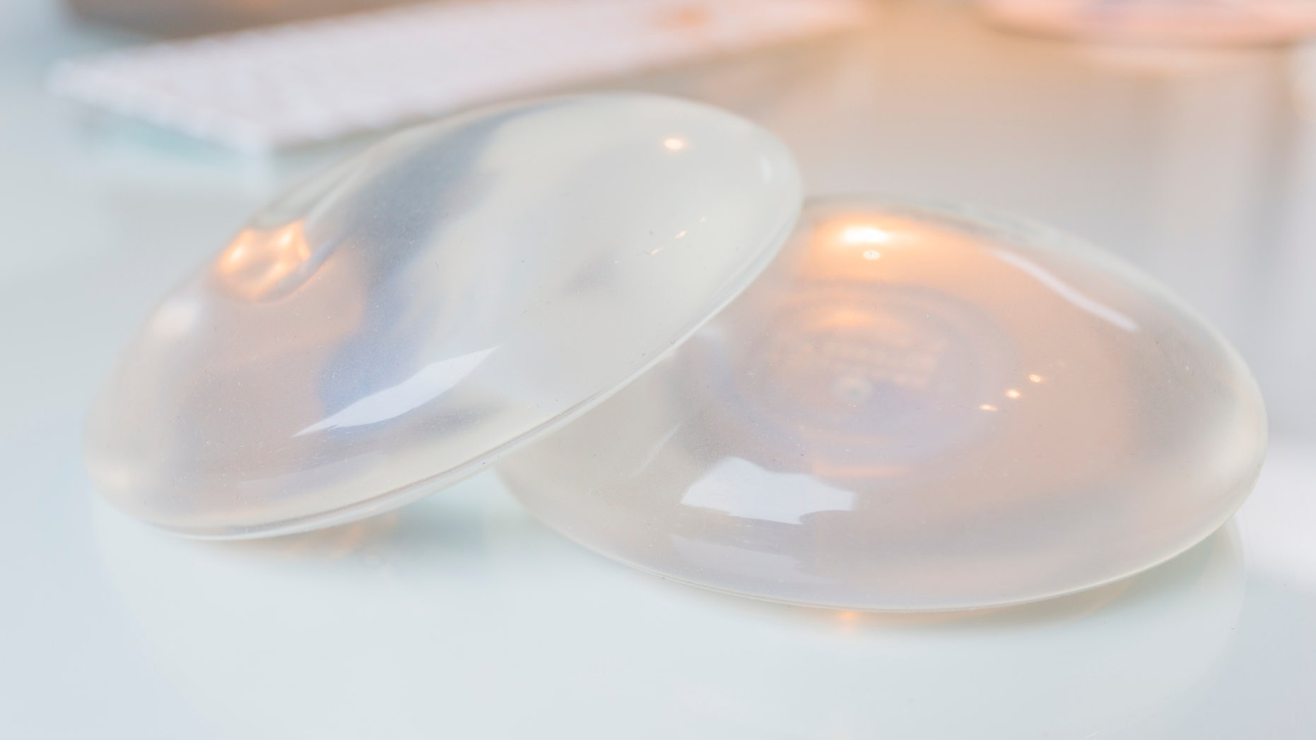 Two silicone breast implant in doctor office