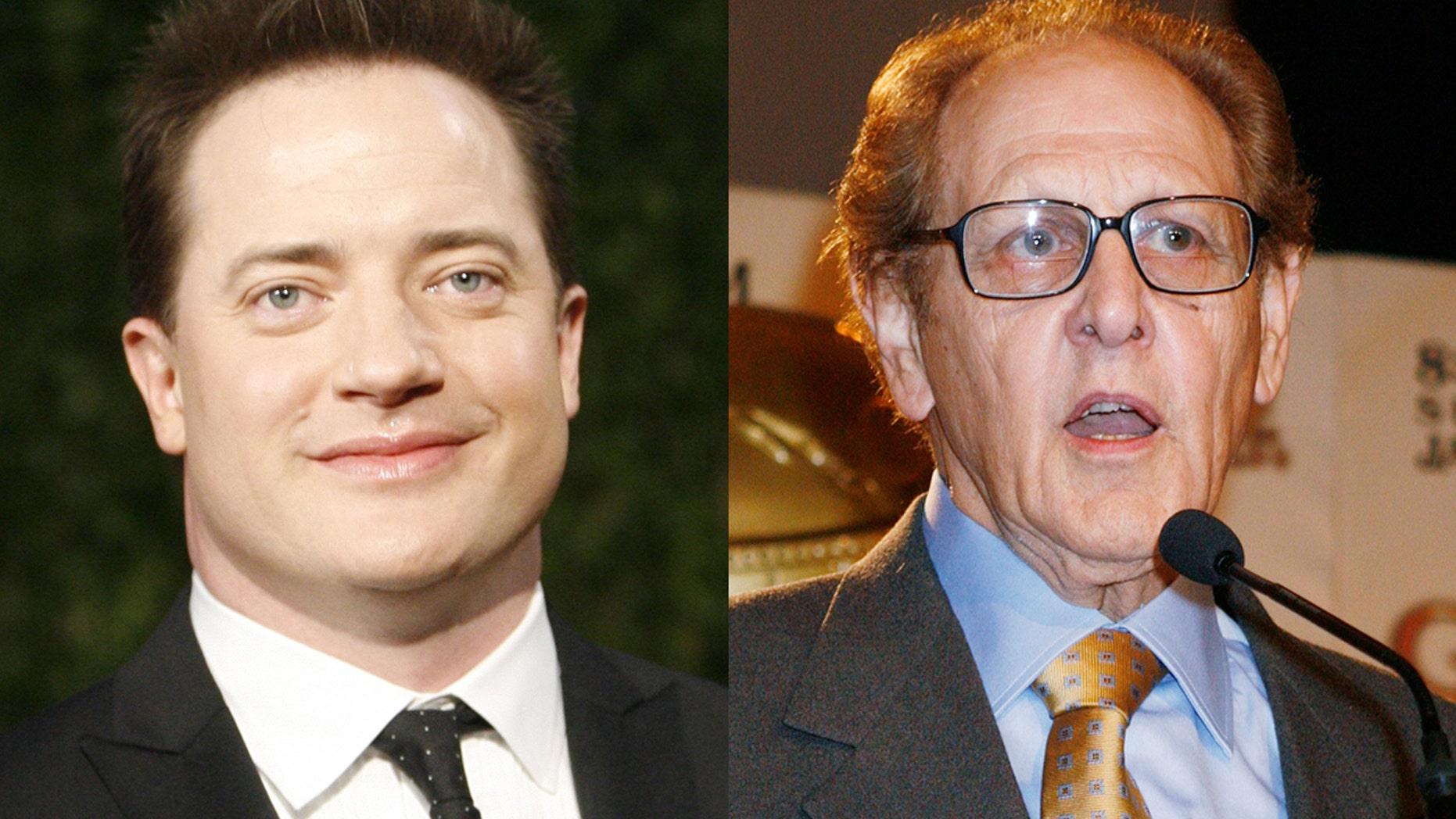 Brendan Fraser (left) accused former Hollywood Foreign Press President Philip Berk of groping him in 2003.
