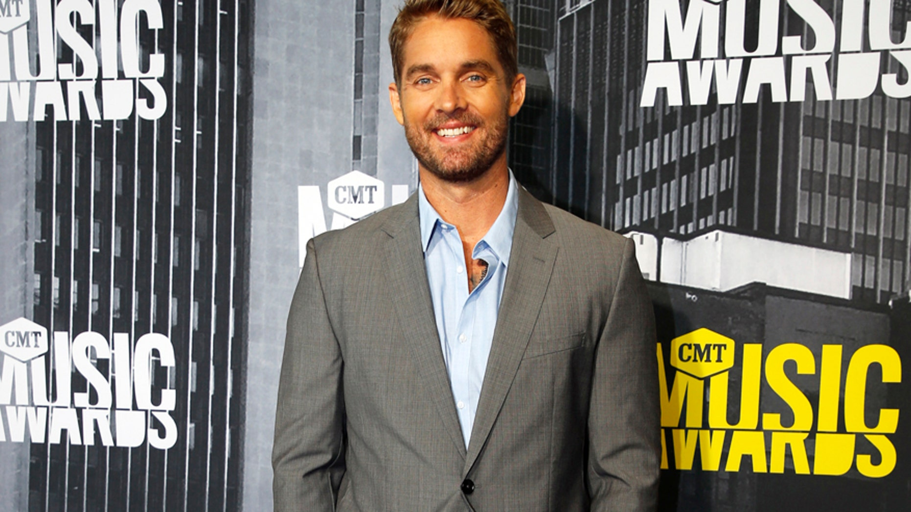 Brett Young arrives at the 2017 CMT Music Awards in Nashville, Tennessee, on June 7, 2017.
