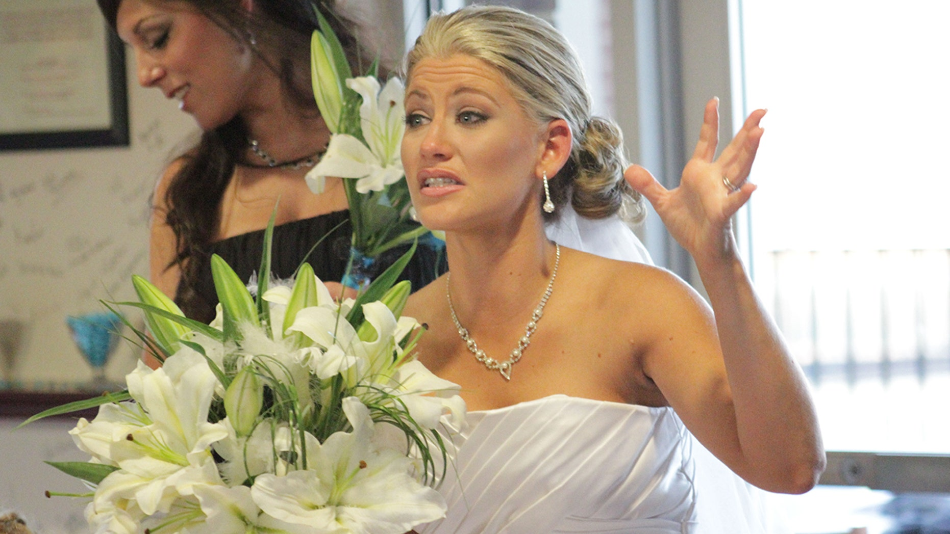 "A woman appears on the series ""Bridezillas."""