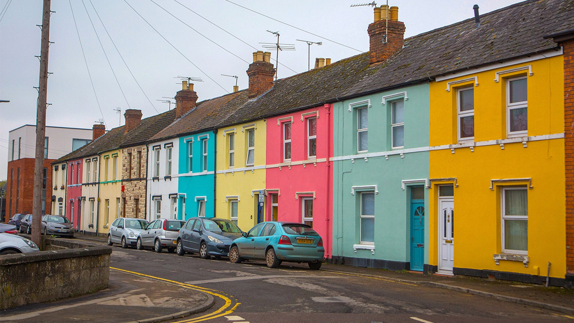 The residents of this neighborhood all painted their homes a different color and said it helped boost their mood.