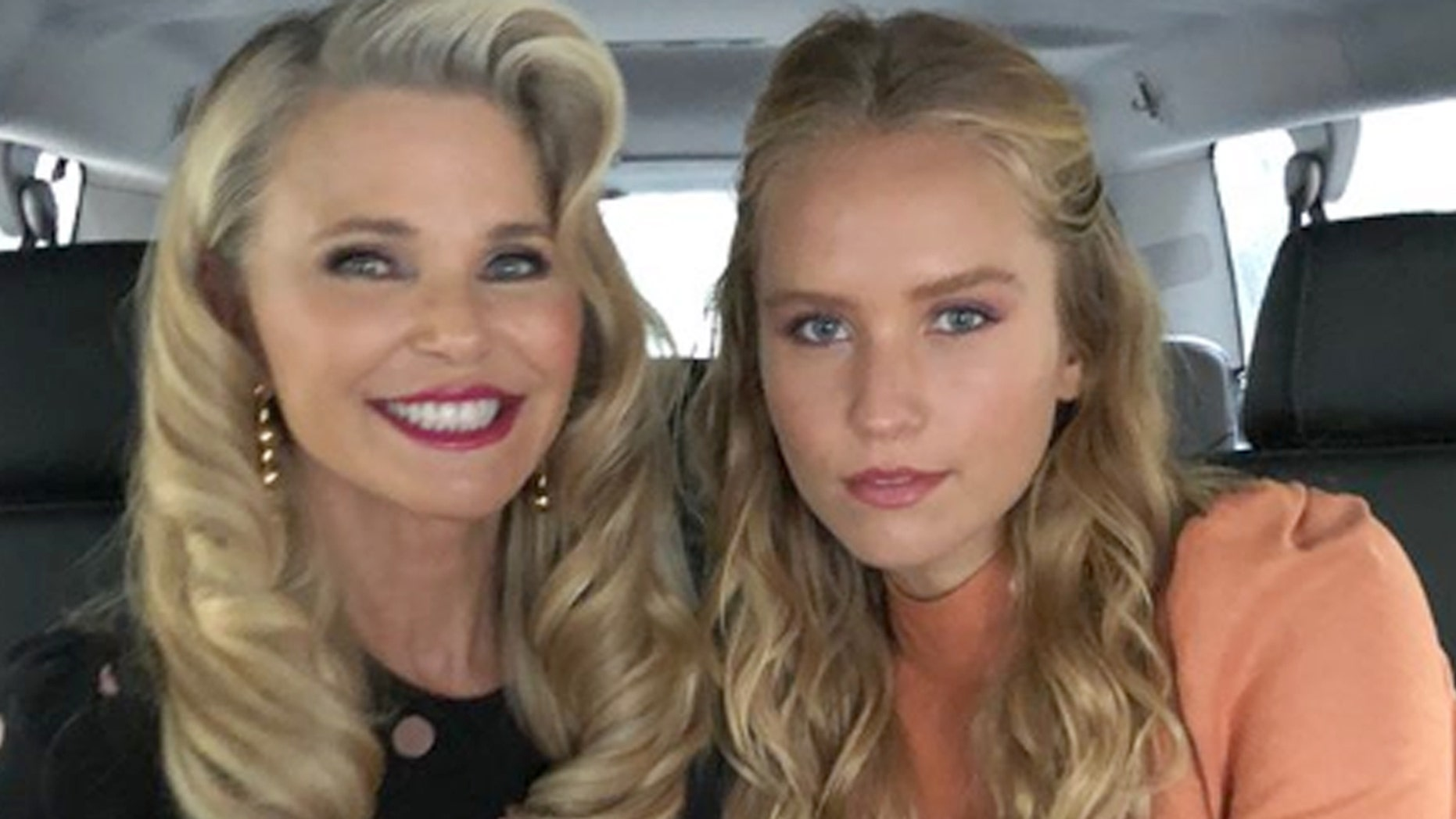Supermodel Christie Brinkley attends New York Fashion Week shows with her daughter, Sailor.