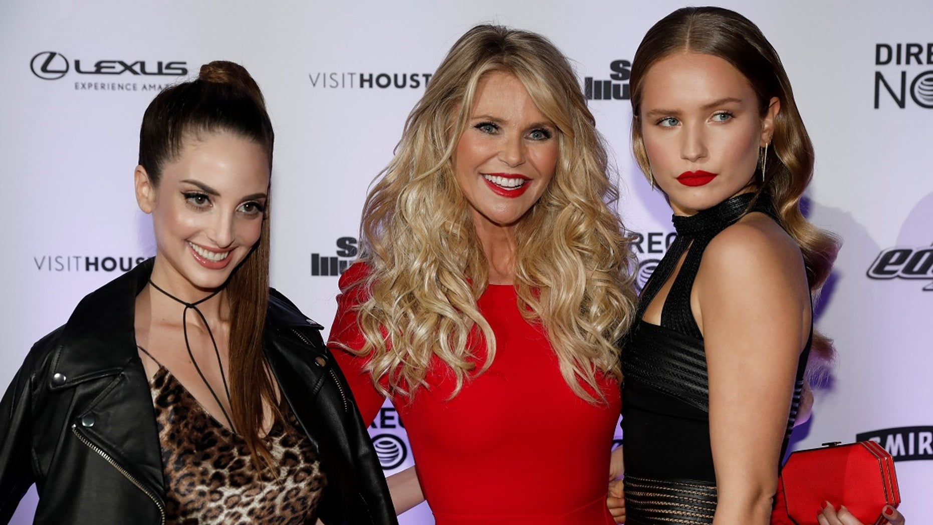 Alexa Ray Joel (left) defended herself after an Instagram troll compared her to Christie Brinkley's (middle) other daughter Sailor Brinkley Cook (right).