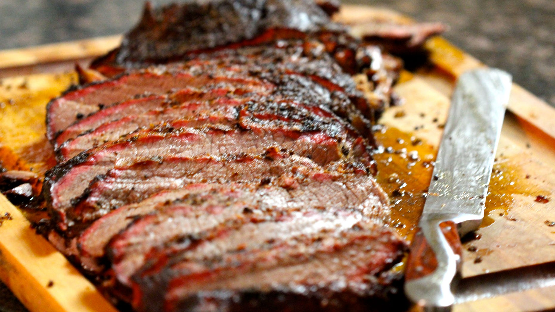 Critics were displeased with Kevin Biegel comparing his dish to a real brisket, like the one pictured above.