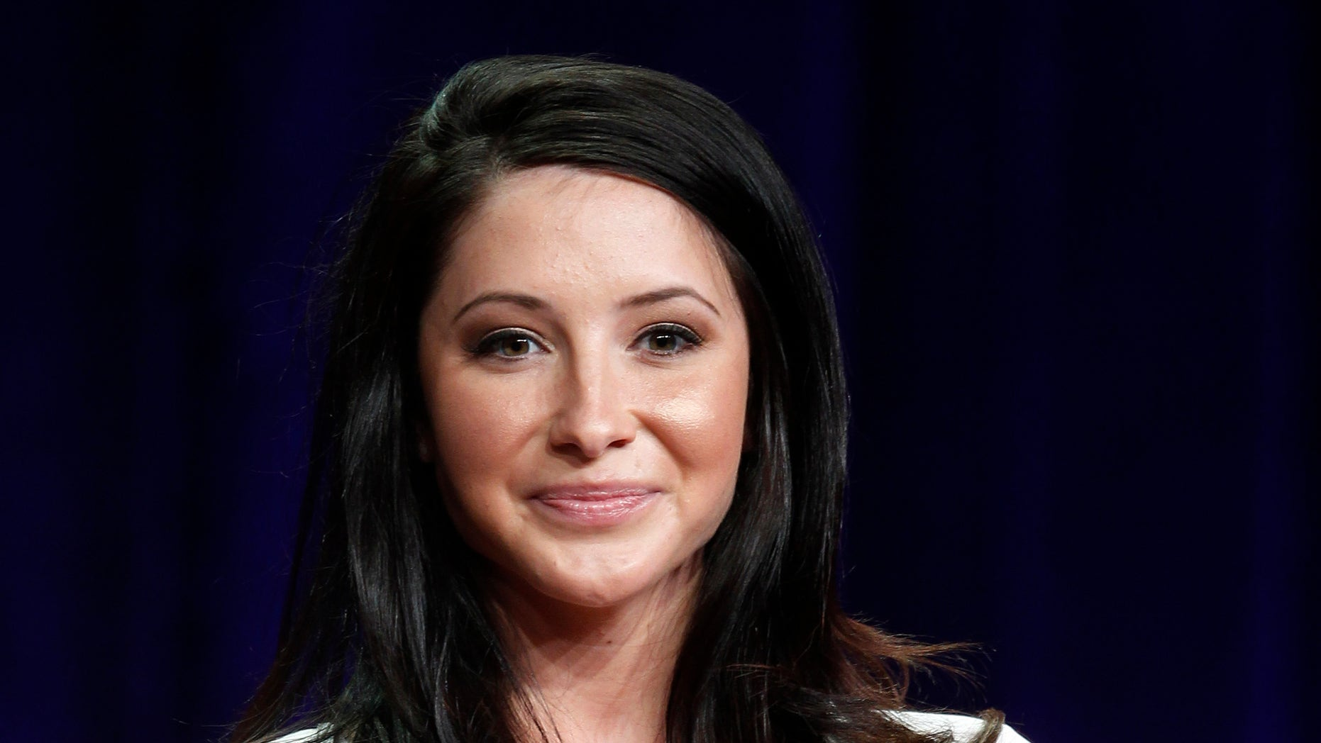 "July 27, 2012. Bristol Palin, one of the cast members of the reality series ""Dancing with the Stars: All Stars"" speaks during a panel discussion at the Disney-ABC Television Group portion of the Television Critics Association Summer press tour in Beverly Hills, California."