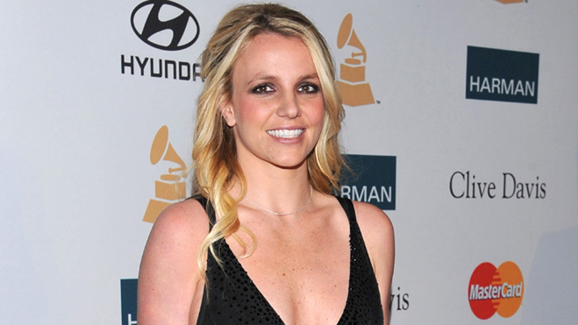 Feb. 11, 2012: In this file photo, singer Britney Spears arrives at the Pre-GRAMMY Gala & Salute to Industry Icons with Clive Davis honoring Richard Branson in Beverly Hills, Calif.