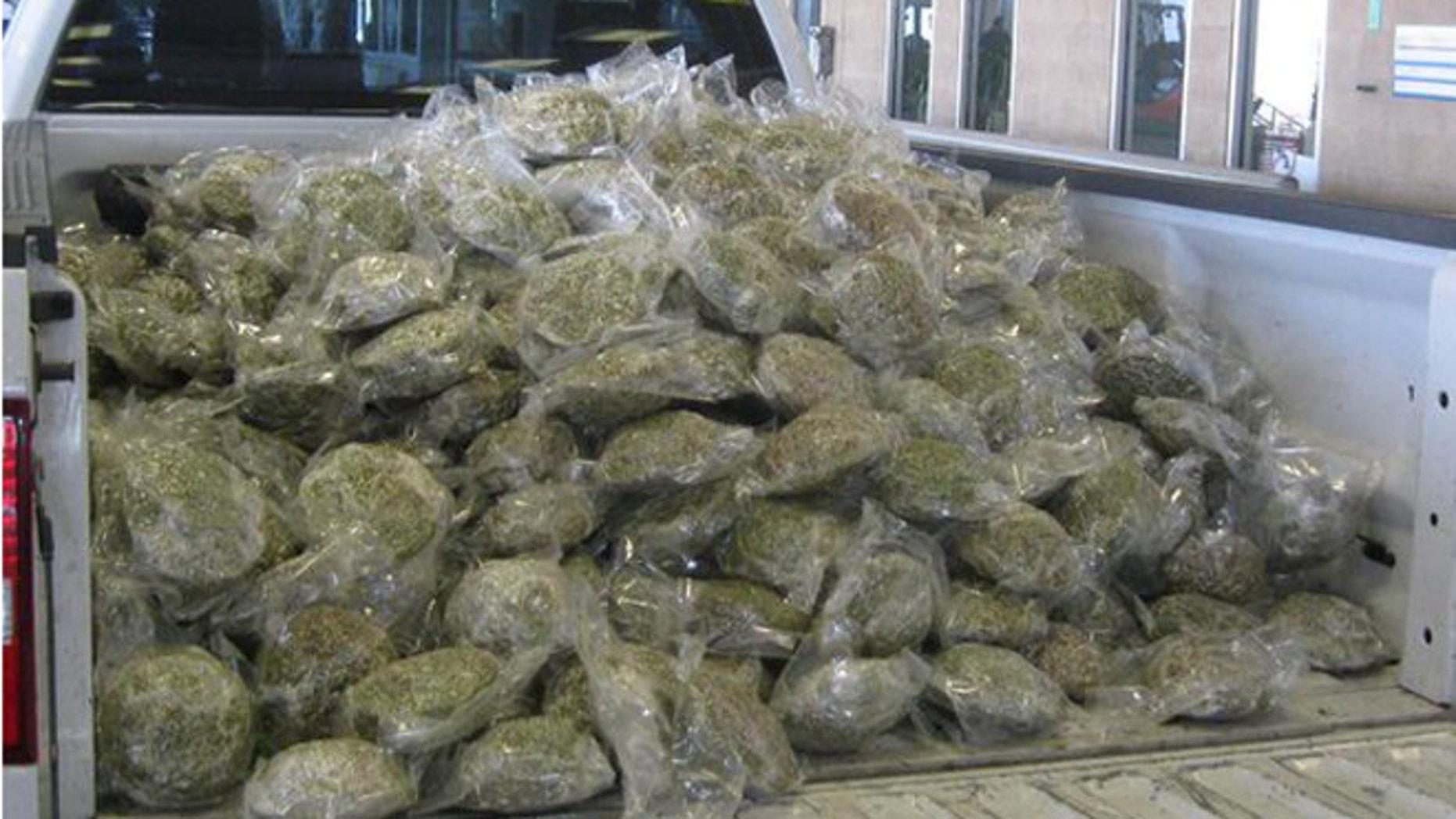 Agents seize marijuana load hidden in broccoli shipment at Texas border. (U.S. Customs and Border Protection)