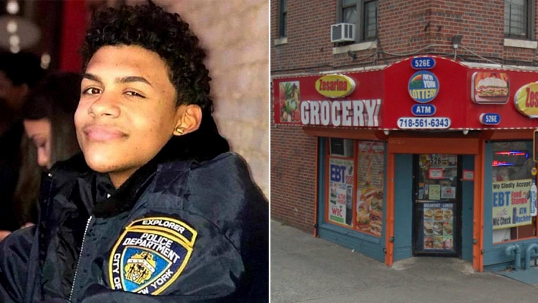 Lesandro Guzman-Feliz, 15, was stabbed outside the Zesarina Grocery store in New York City last week.
