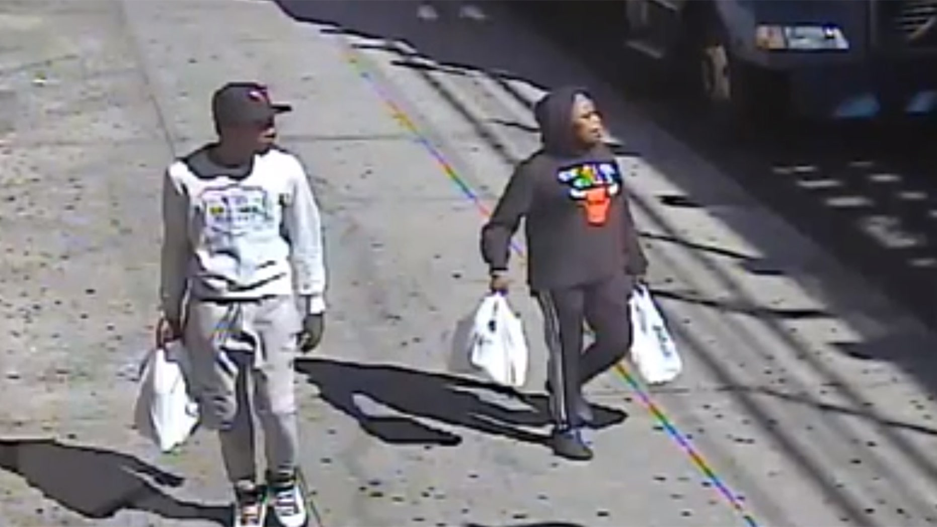 Police released surveillance footage of the duo in connection with the Bronx beating.