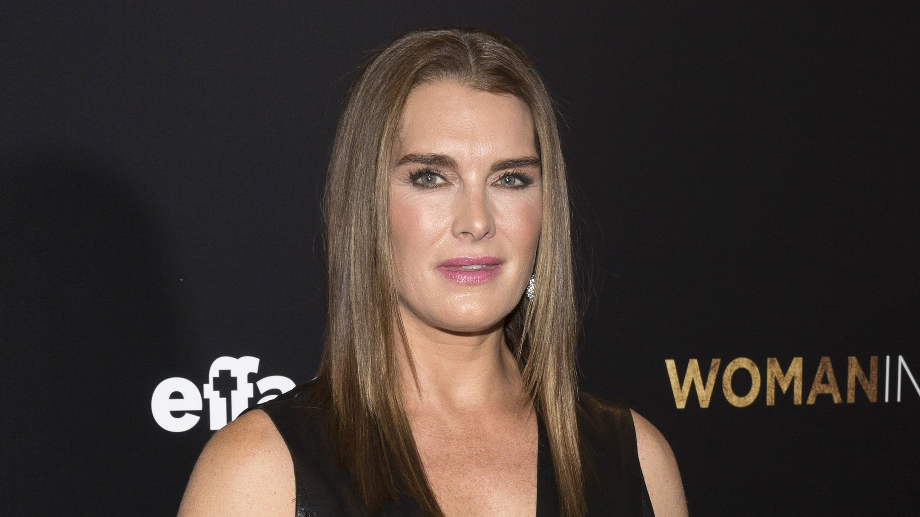 """March 30, 2015. Actress Brooke Shields attends the """"Woman in Gold"""" premiere in New York."""