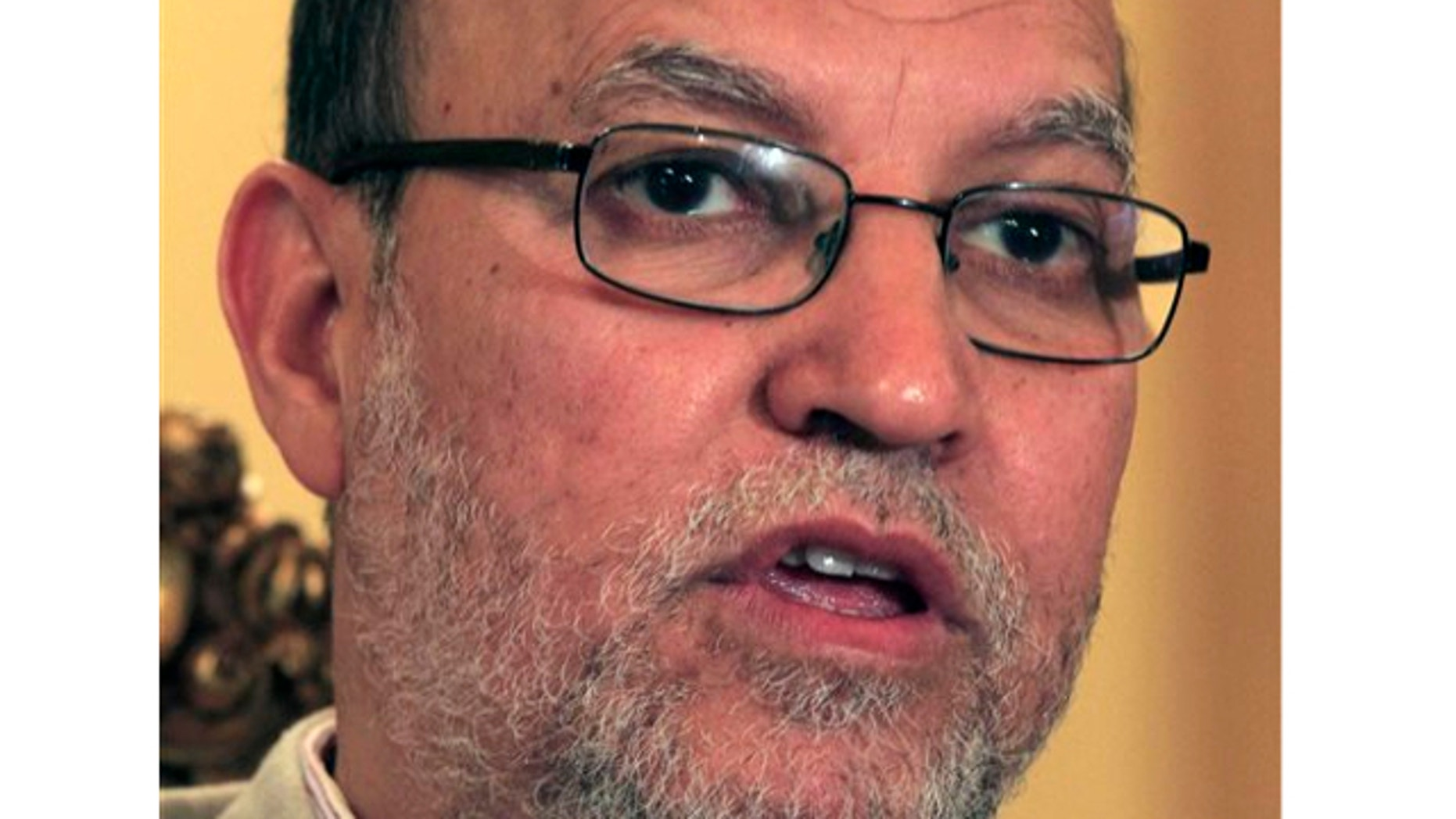 FILE: May 16, 2011:  Essam el-Erian, deputy head of the Egyptian Muslim Brotherhood's new political party, speaks during an interview at the Muslim Brotherhood headquarters in Cairo, Egypt.