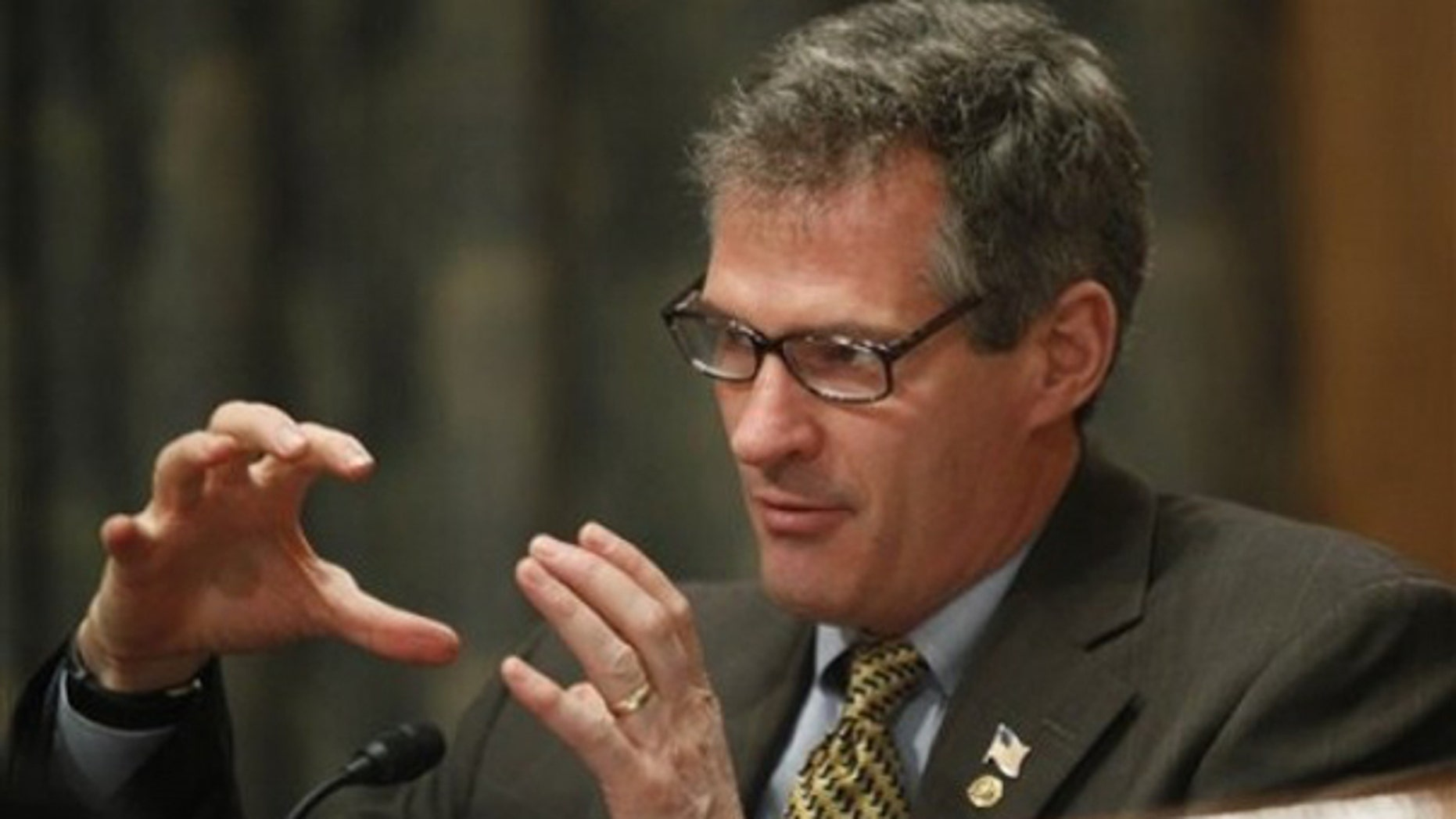 Sen. Scott Brown questions witnesses during a hearing on intelligence reform March 10 on Capitol Hill. (AP Photo)
