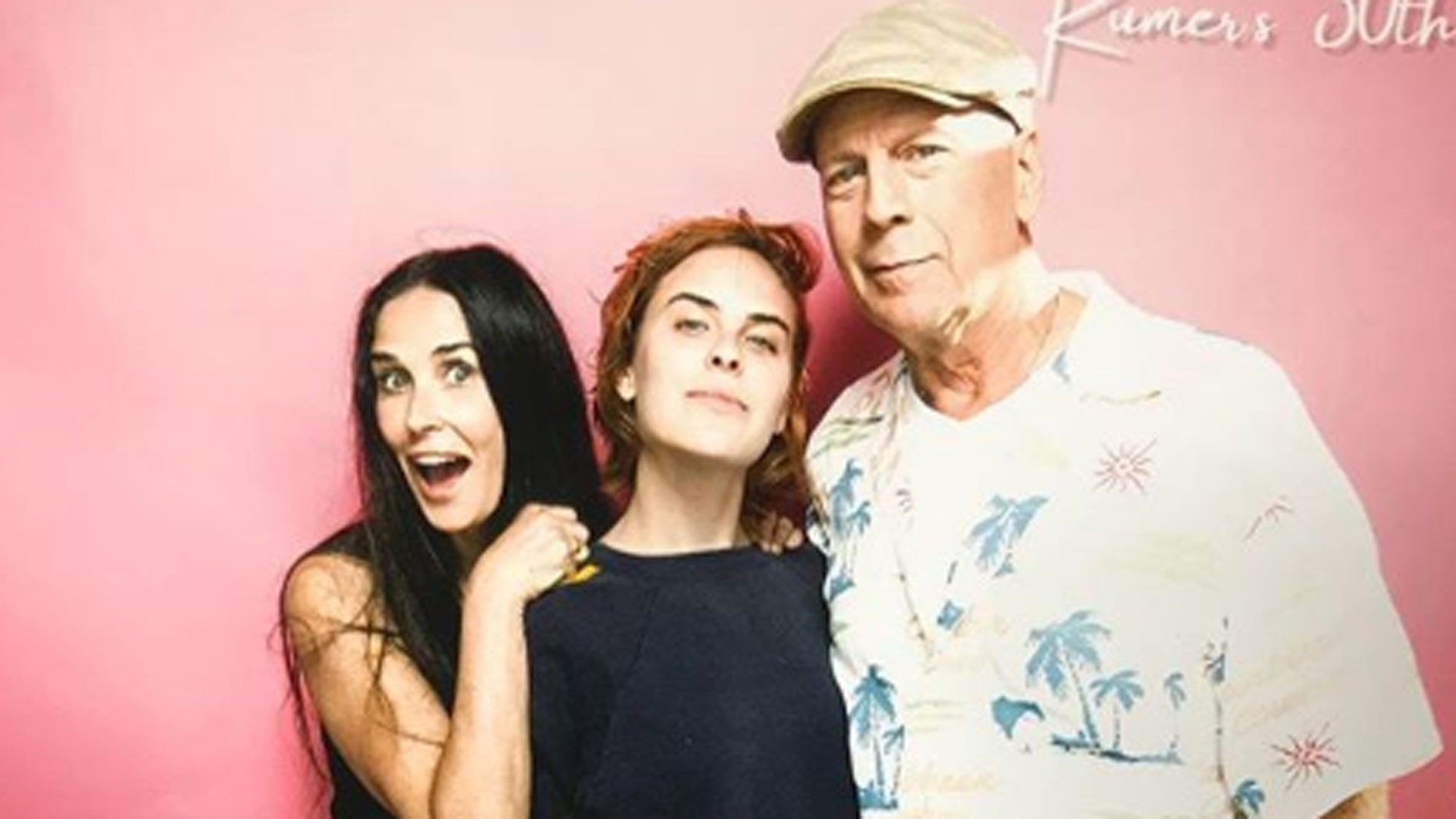 Demi Moore and Bruce Willis reunite to celebrate their daughter's 30th birthday.