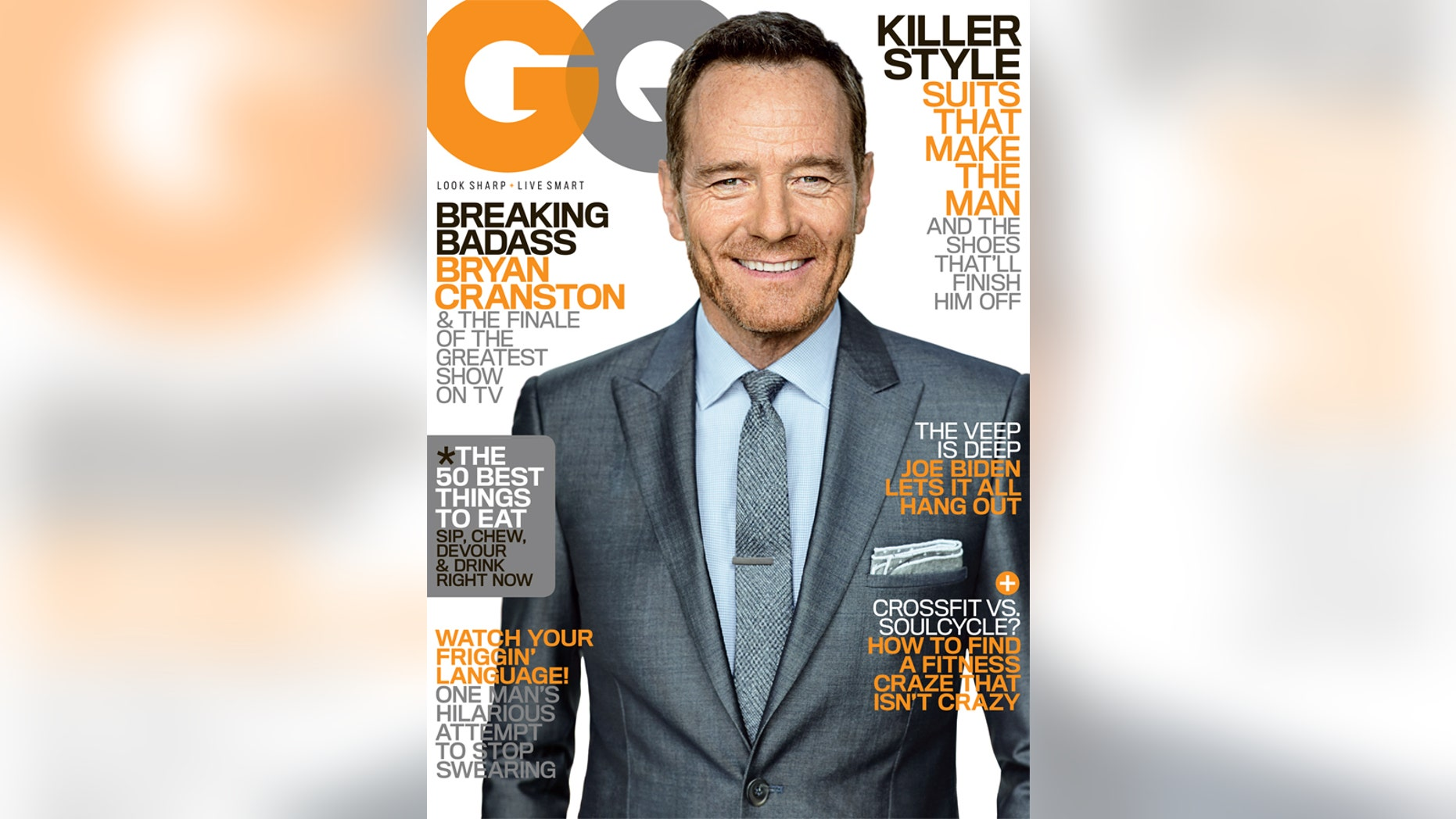 Bryan Cranston appears on the August 2013 issue of GQ.