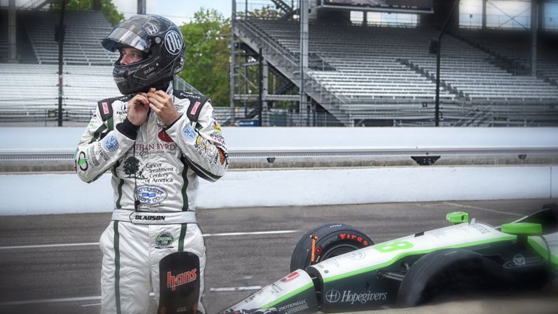 INDIANAPOLIS, IN - MAY 18: Bryan Clauson, driver of the #88 Dallara Honda, looks on during practice at the Indianapolis Motorspeedway on May 18, 2016 in Indianapolis, Indiana. (Photo by Ronald C. Modra/NHL/Getty Images)