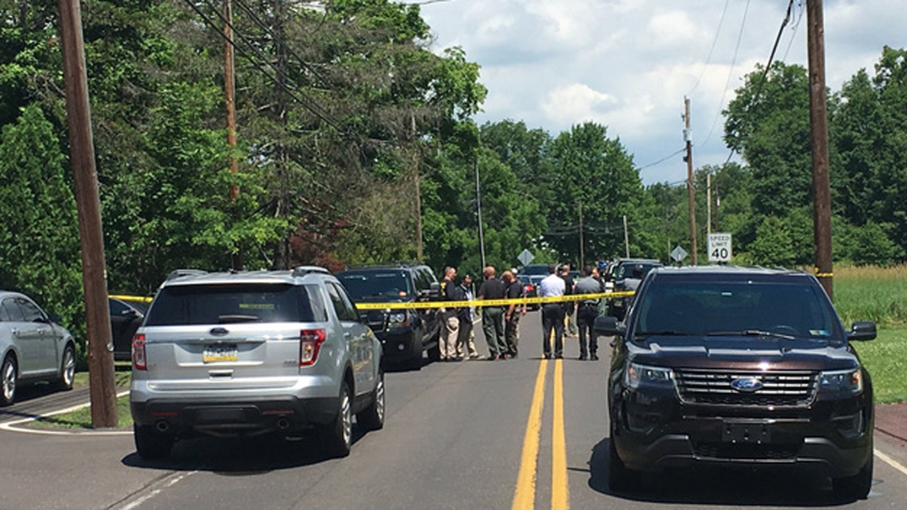 Authorities in Pennsylvania swarmed two homes as part of an investigation into a series of mysterious explosions since April.