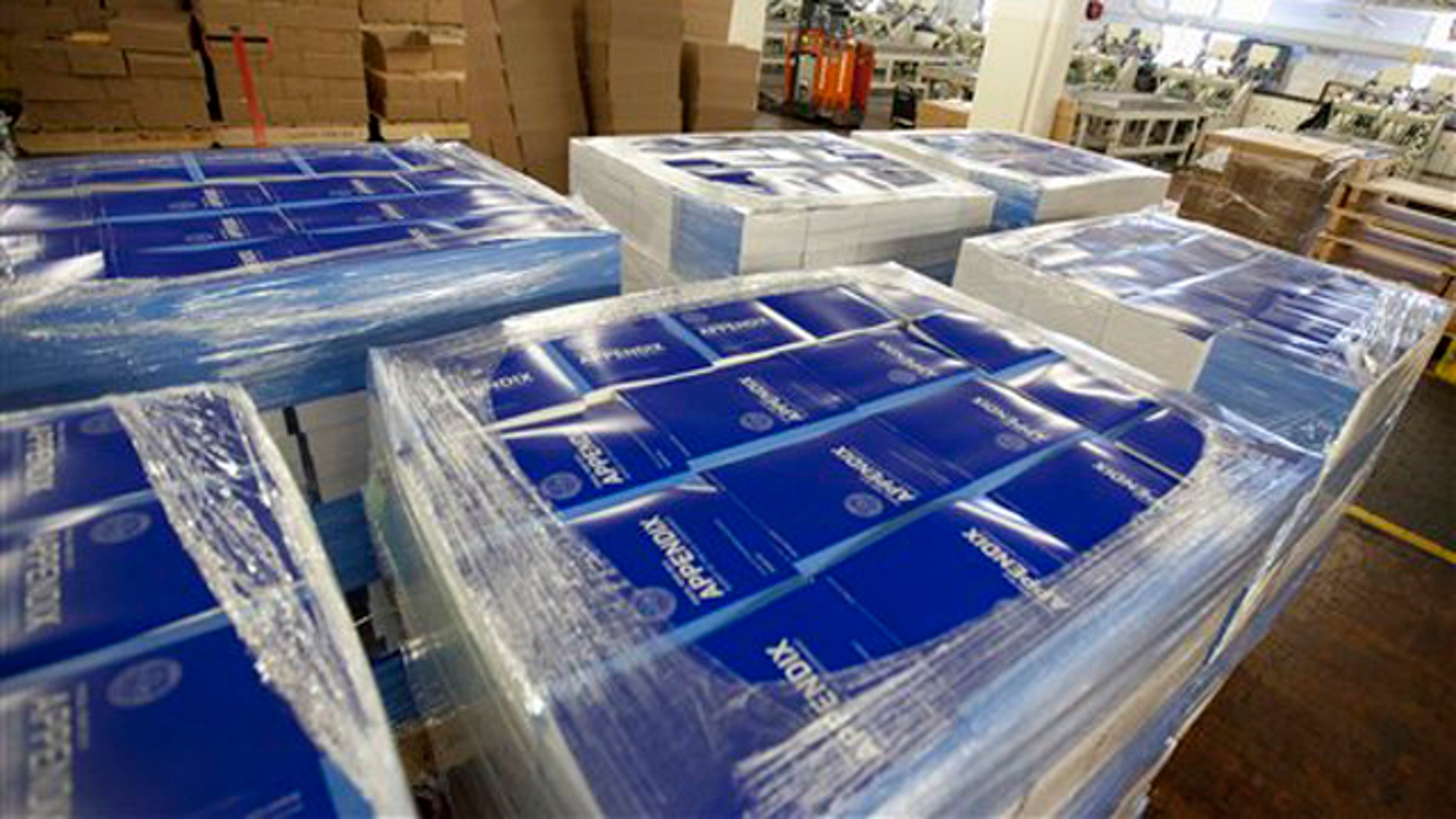 Feb. 9, 2012: Copies of of President Obama's fiscal 2013 federal budget are readied for shipment at the Government Printing Office (GPO) in Washington.