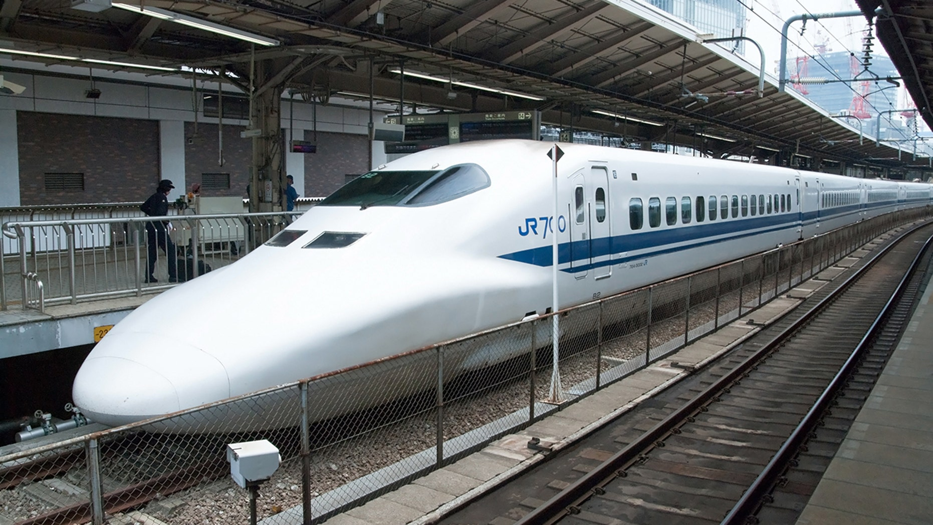 A bullet train in Japan had to make an emergency stop after a passenger's tablet caught fire