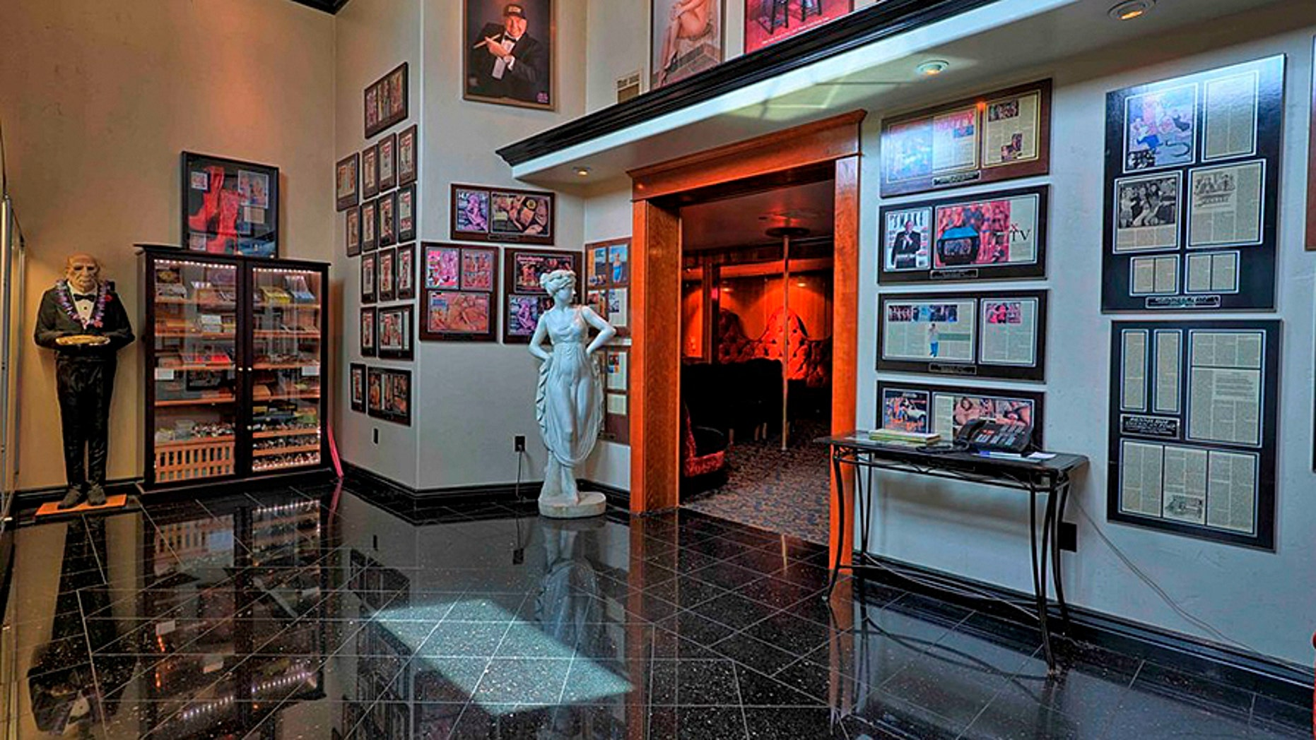 (The lobby of the famous Nevada brothel Bunny Ranch. Credit: Yelp)