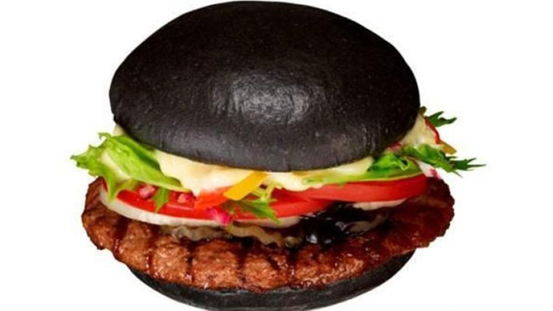 "Burger King's Premium Kuro Burger uses a bamboo charcoal and squid ink for its ""Black Burger."""